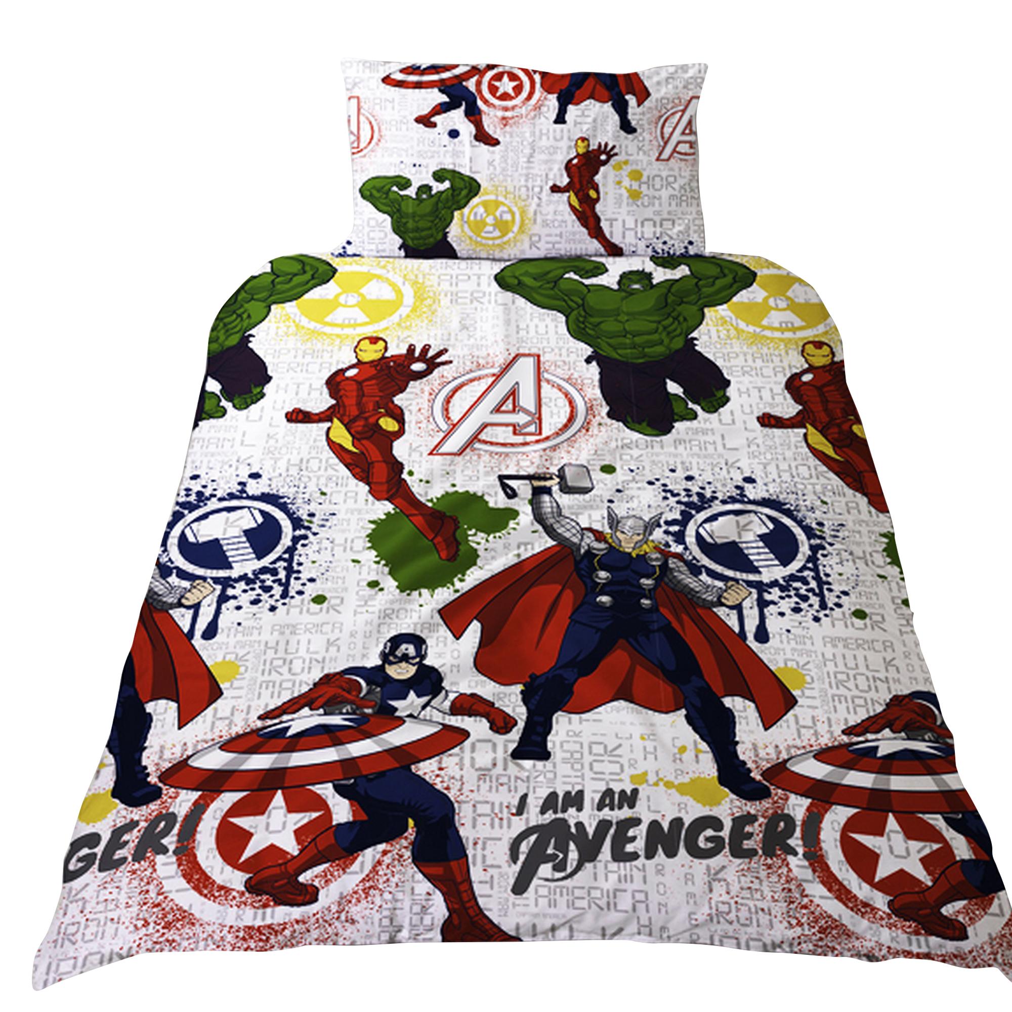 Marvel-Official-Avengers-Mission-Housse-de-couette-reversible-Enfant