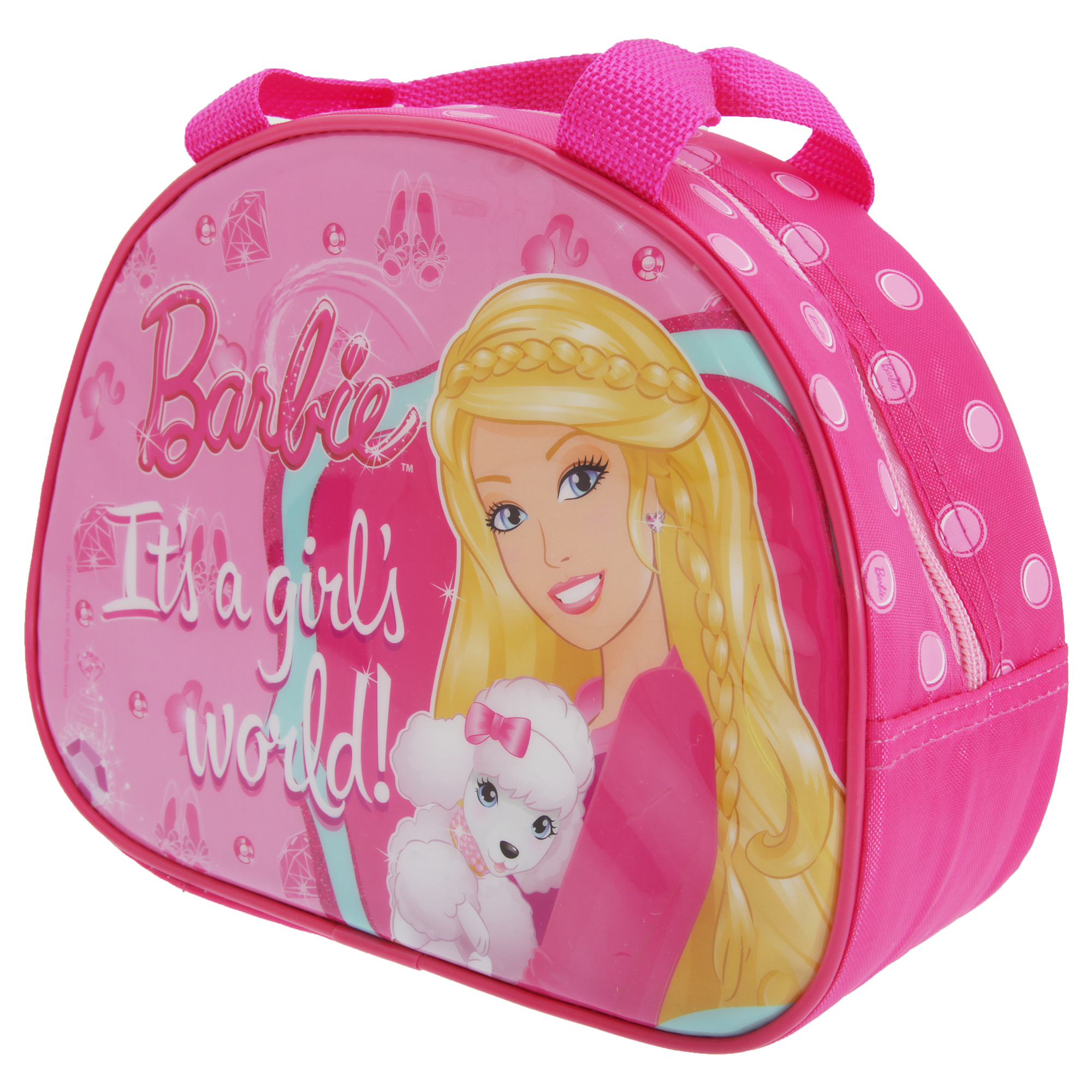Barbie Childrens Girls Official Insulated Purse Shaped Lunch Bag (One Size) (Pink)