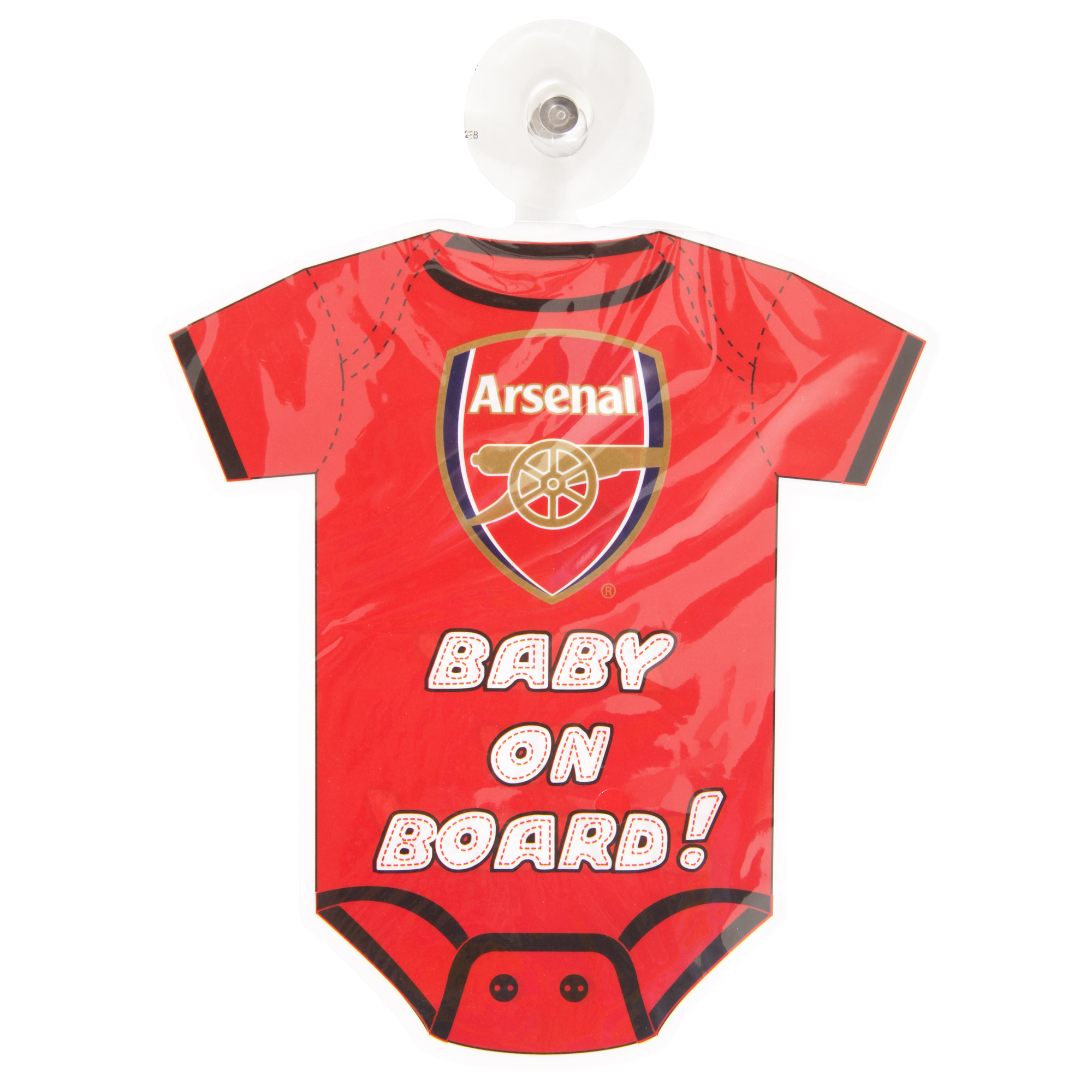 5370141e9 Arsenal FC Official Football Kit Baby On Board Car Window Sign ...