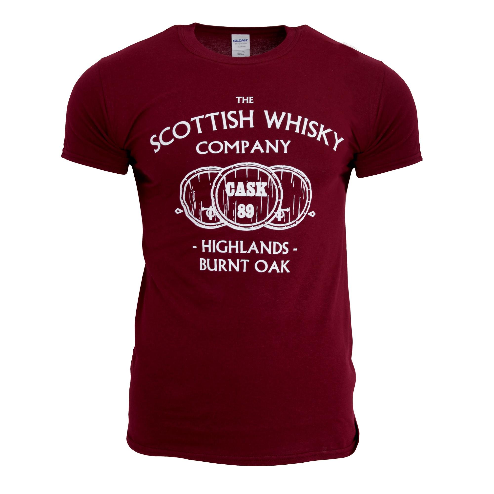 Mens The Scottish Whisky Company T-Shirt (L) (Maroon)