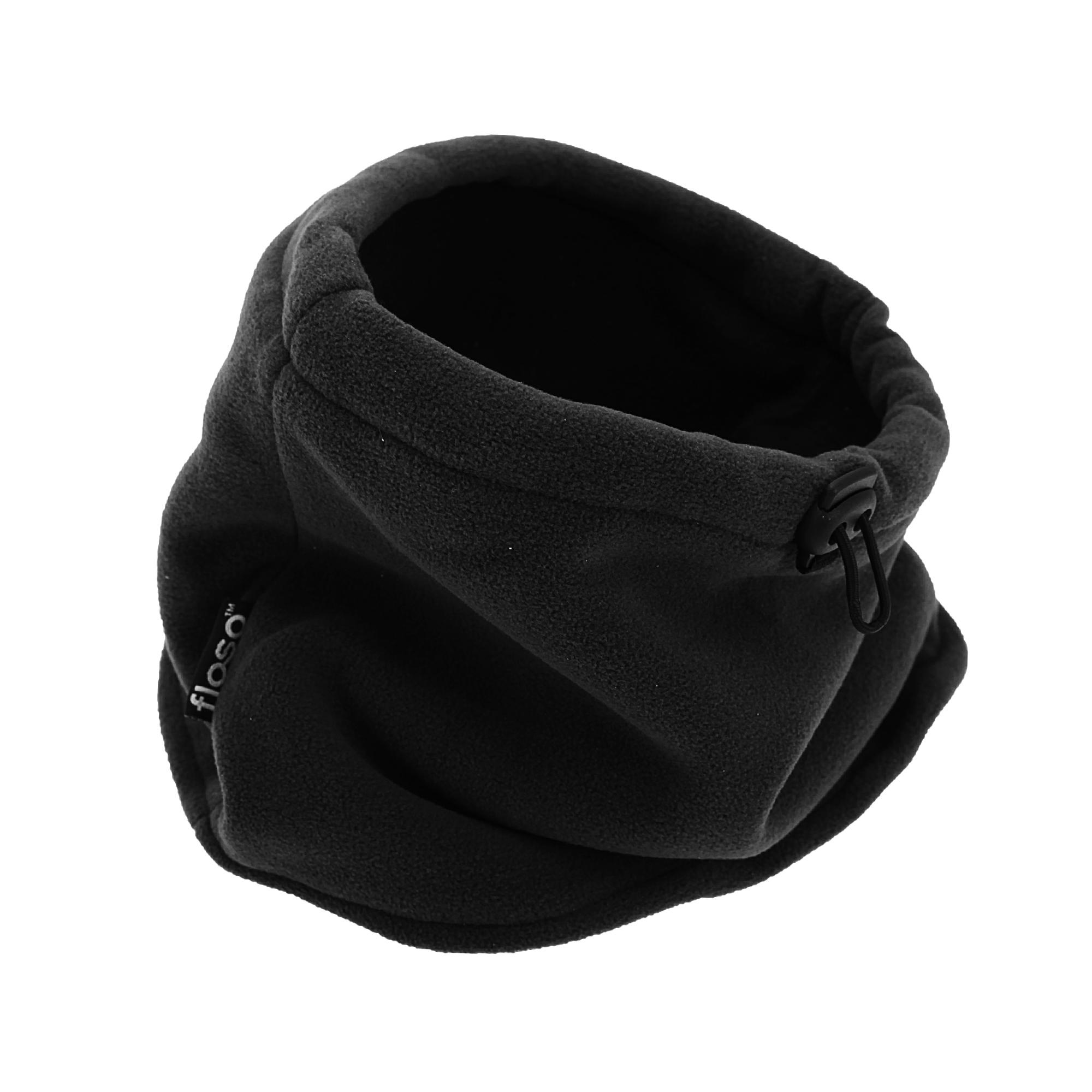 FLOSO Mens Fleece Thermal Winter Neck Snood (One Size) (Black)