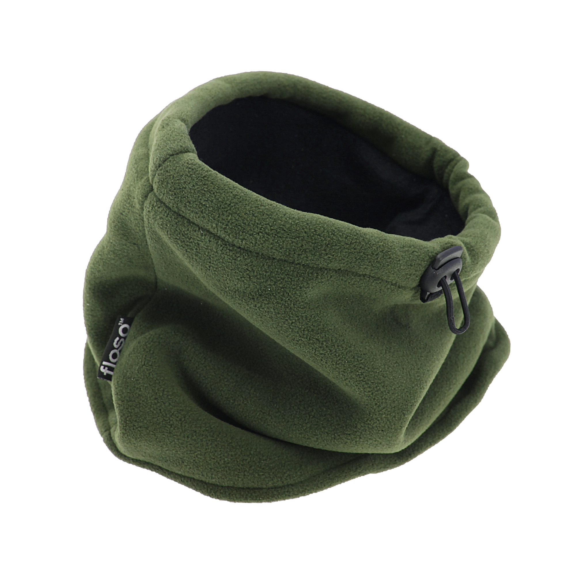 FLOSO Mens Fleece Thermal Winter Neck Snood (One Size) (Olive)