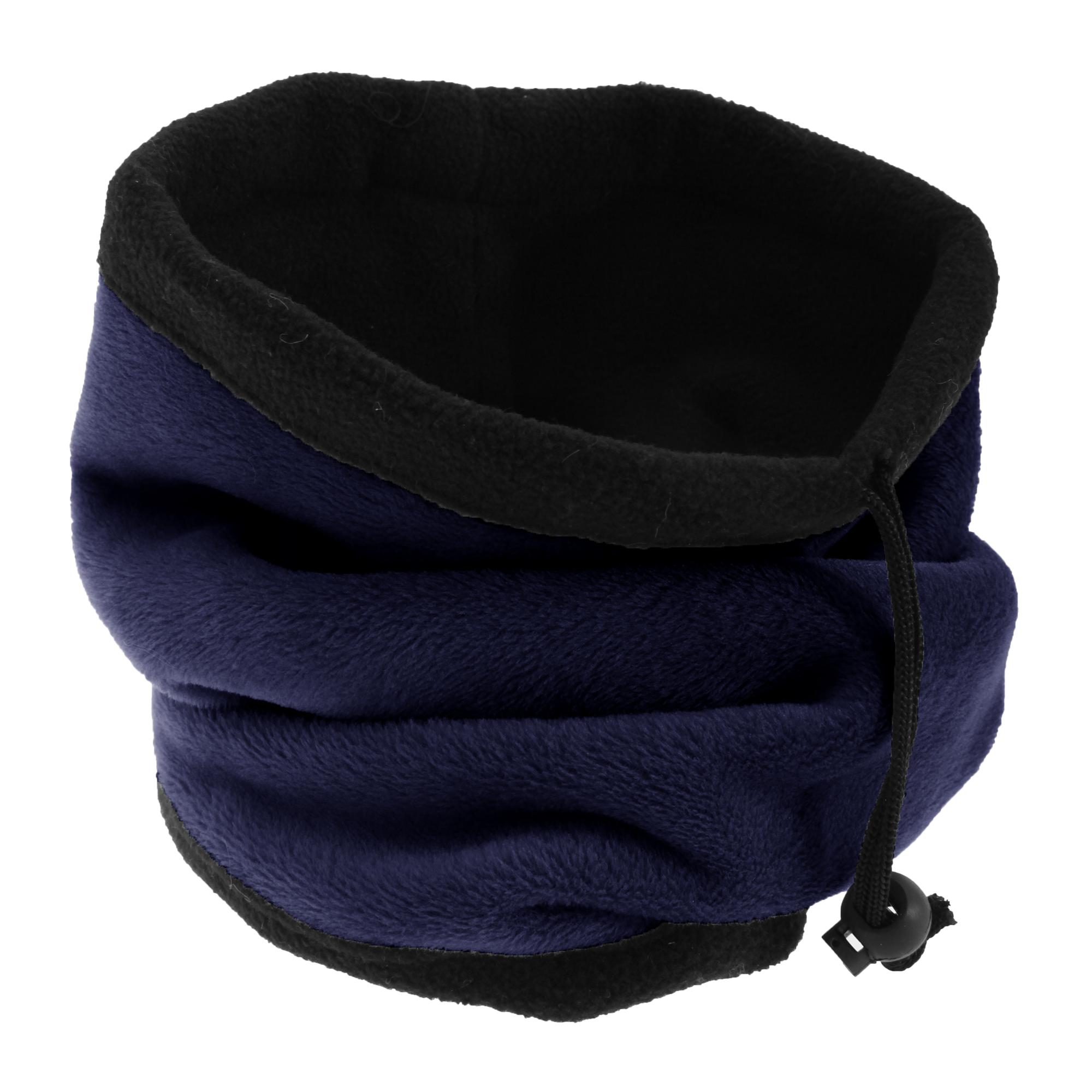 FLOSO Womens/Ladies Multipurpose Fleece Neckwarmer Snood / Hat (One Size) (Navy)