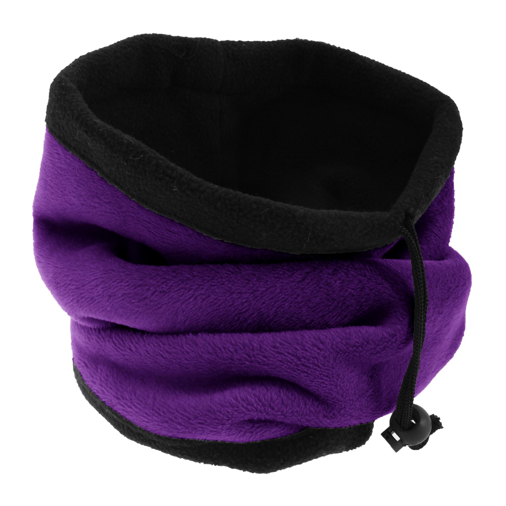 FLOSO Womens/Ladies Multipurpose Fleece Neckwarmer Snood / Hat (One Size) (Purple)