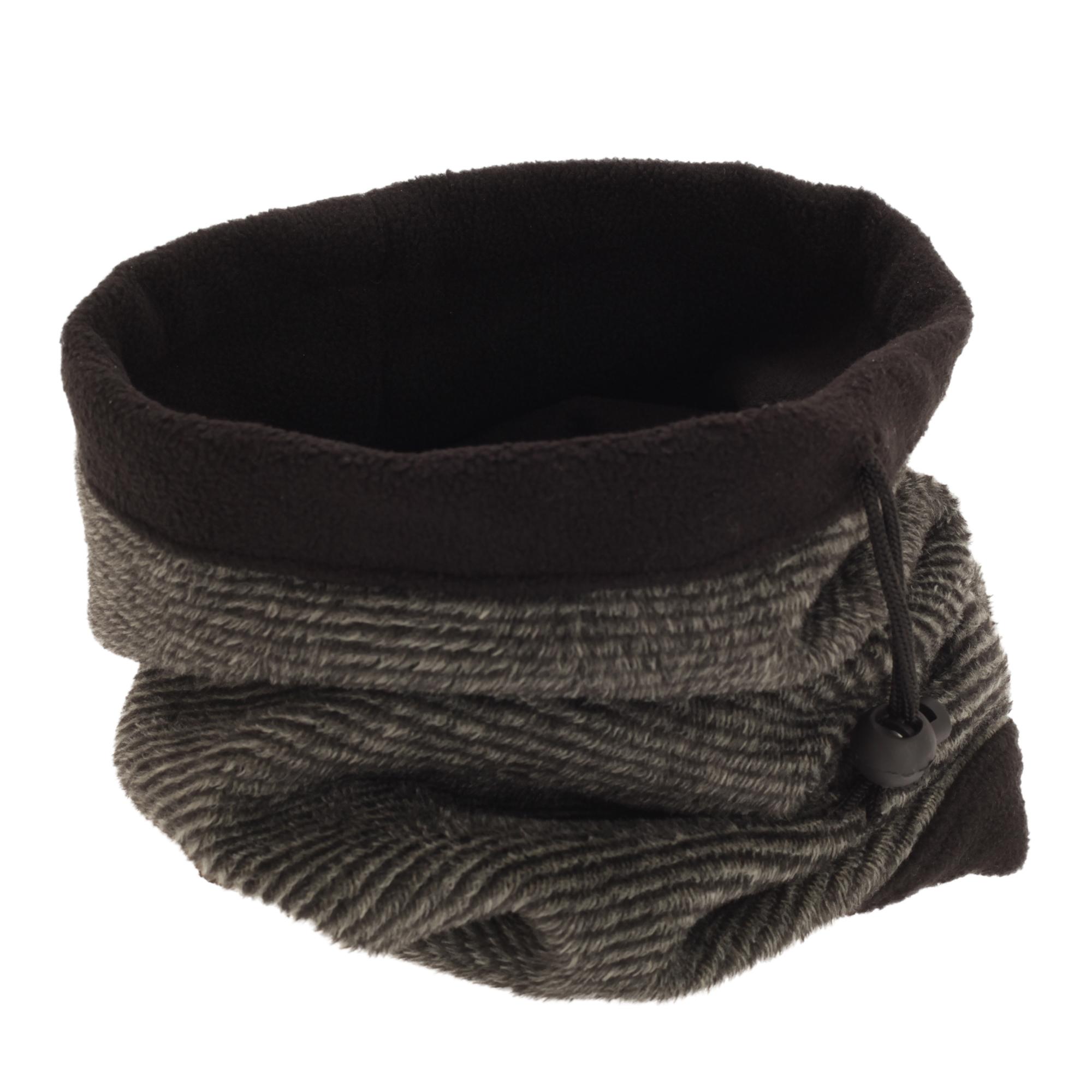 FLOSO Womens/Ladies Multipurpose Fleece Neckwarmer Snood / Hat (One Size) (Graphite)