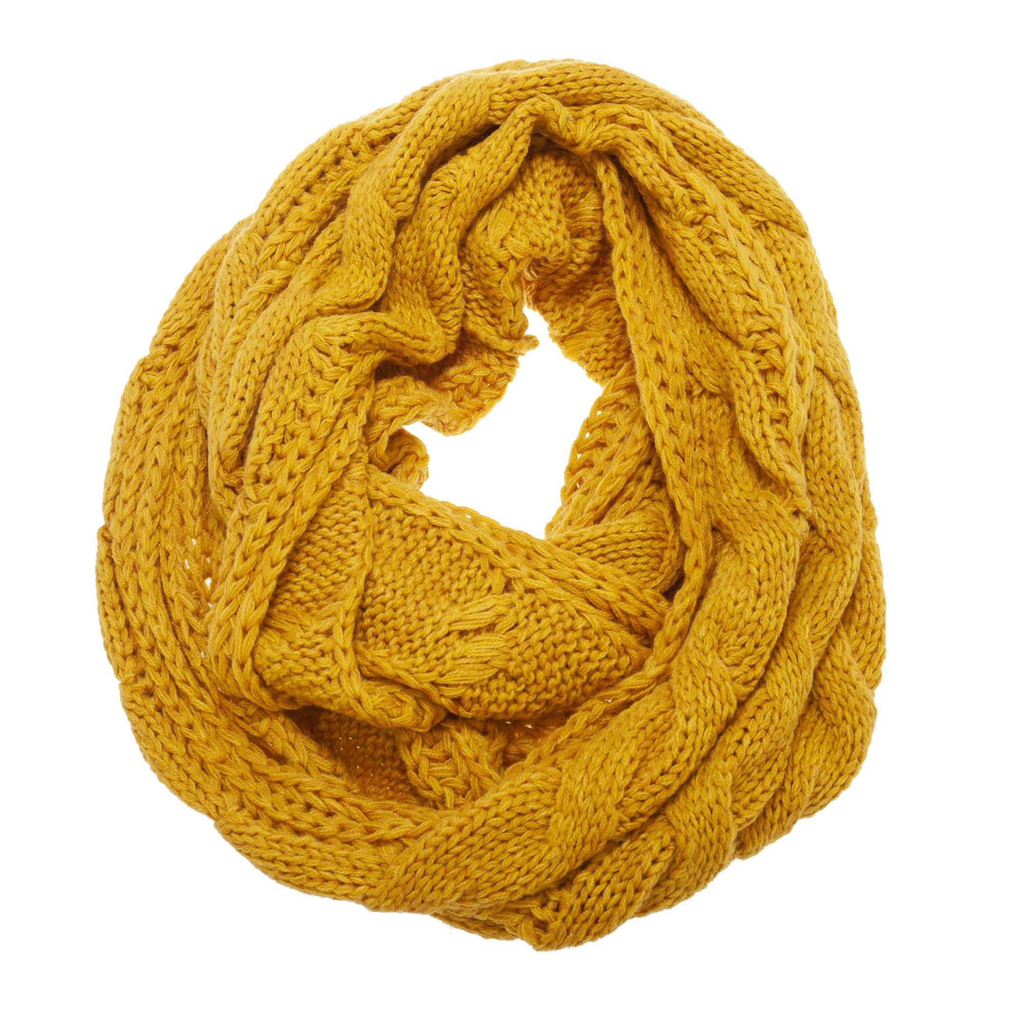 Foxbury Womens/Ladies Knitted Snood (77 x 33cm) (Corn)