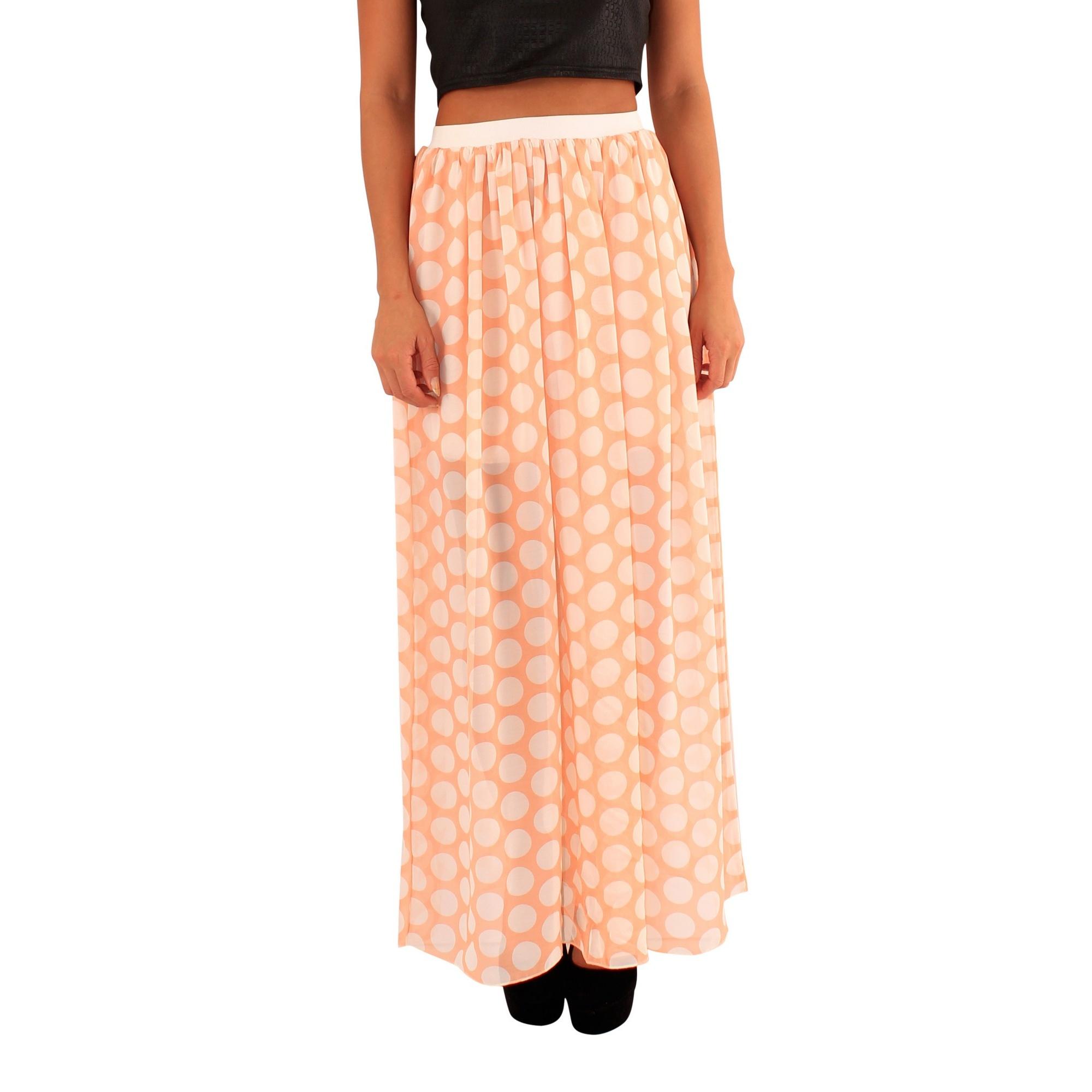 Lili London Womens/Ladies Mandy Polka Dot Maxi Skirt (M/L) (Coral)