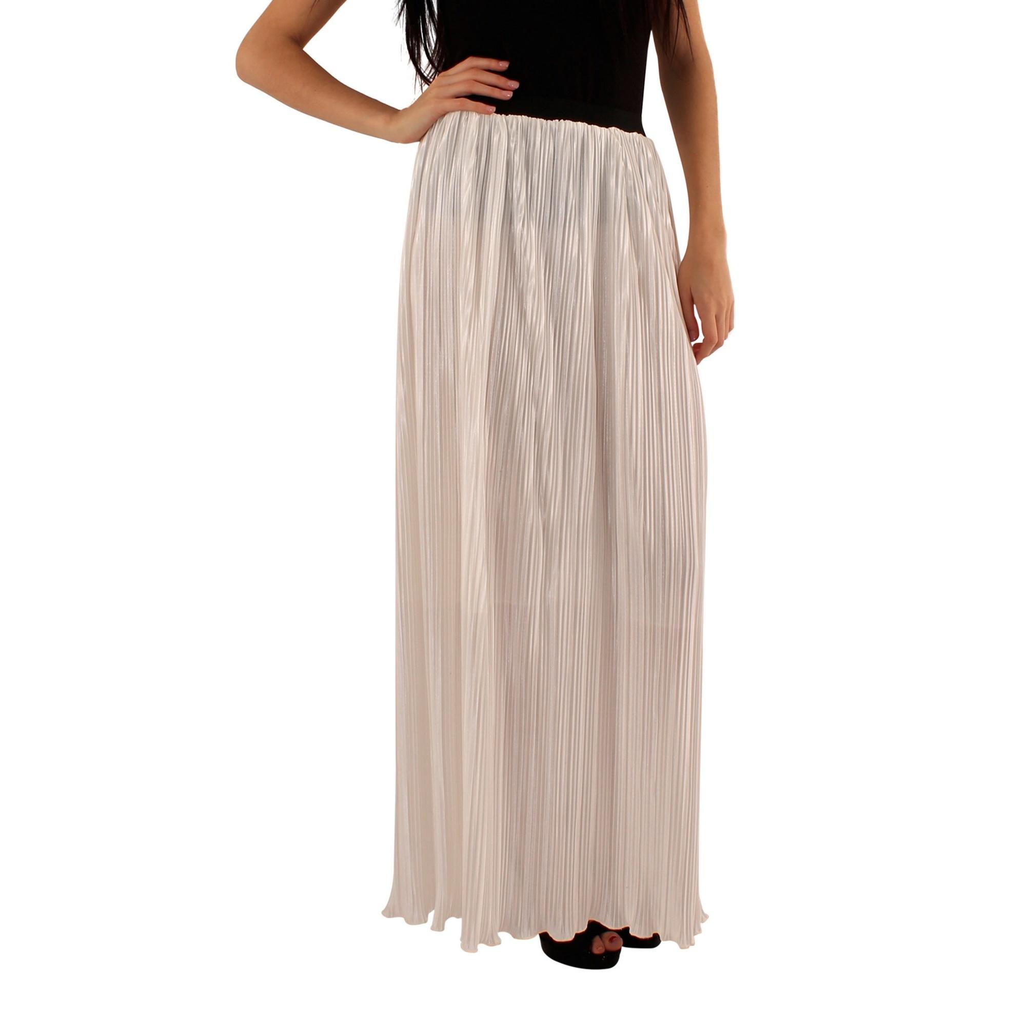 Lili London Womens/Ladies Amalia Pleated Maxi Skirt (S/M) (Cream)