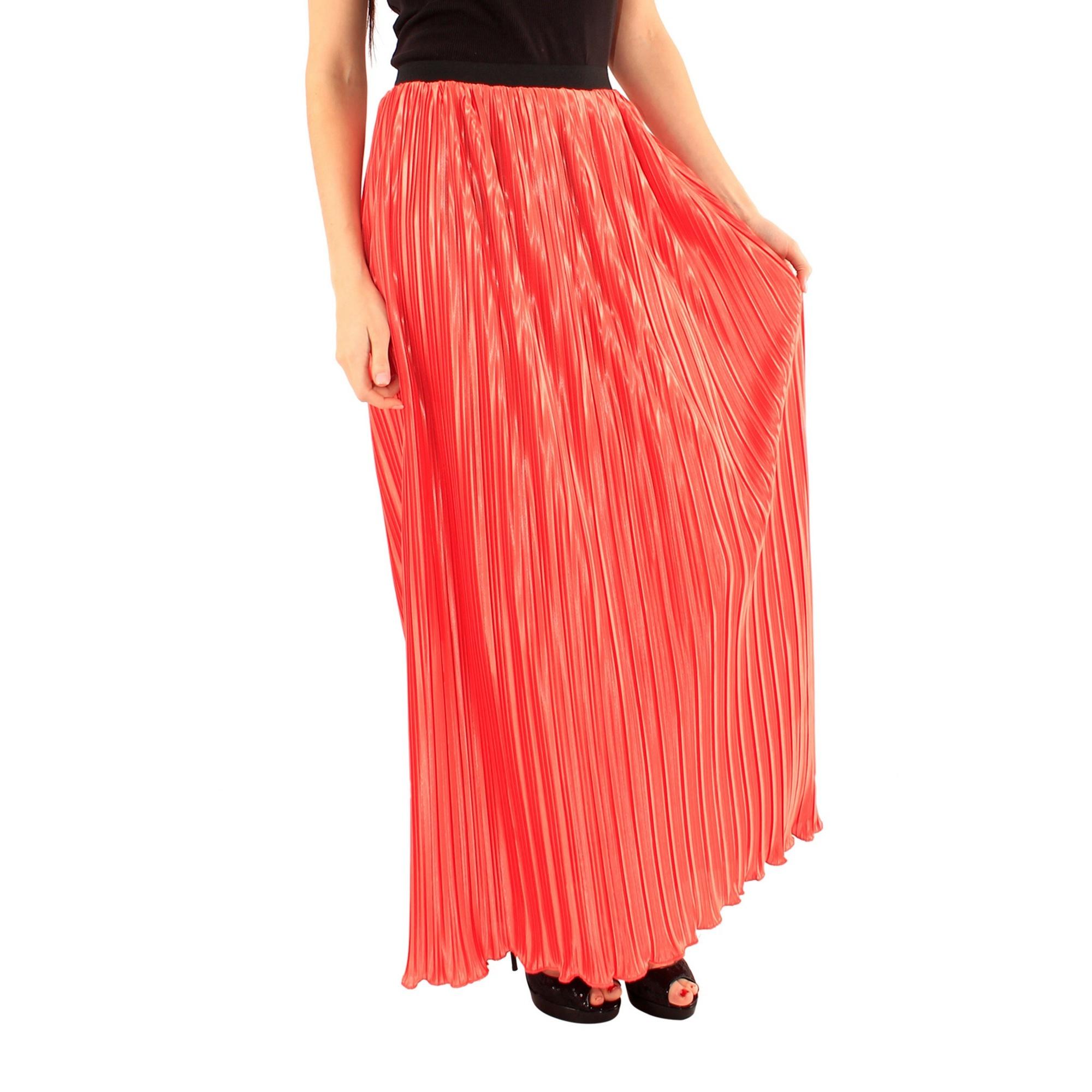 Lili London Womens/Ladies Amalia Pleated Maxi Skirt (S/M) (Orange)