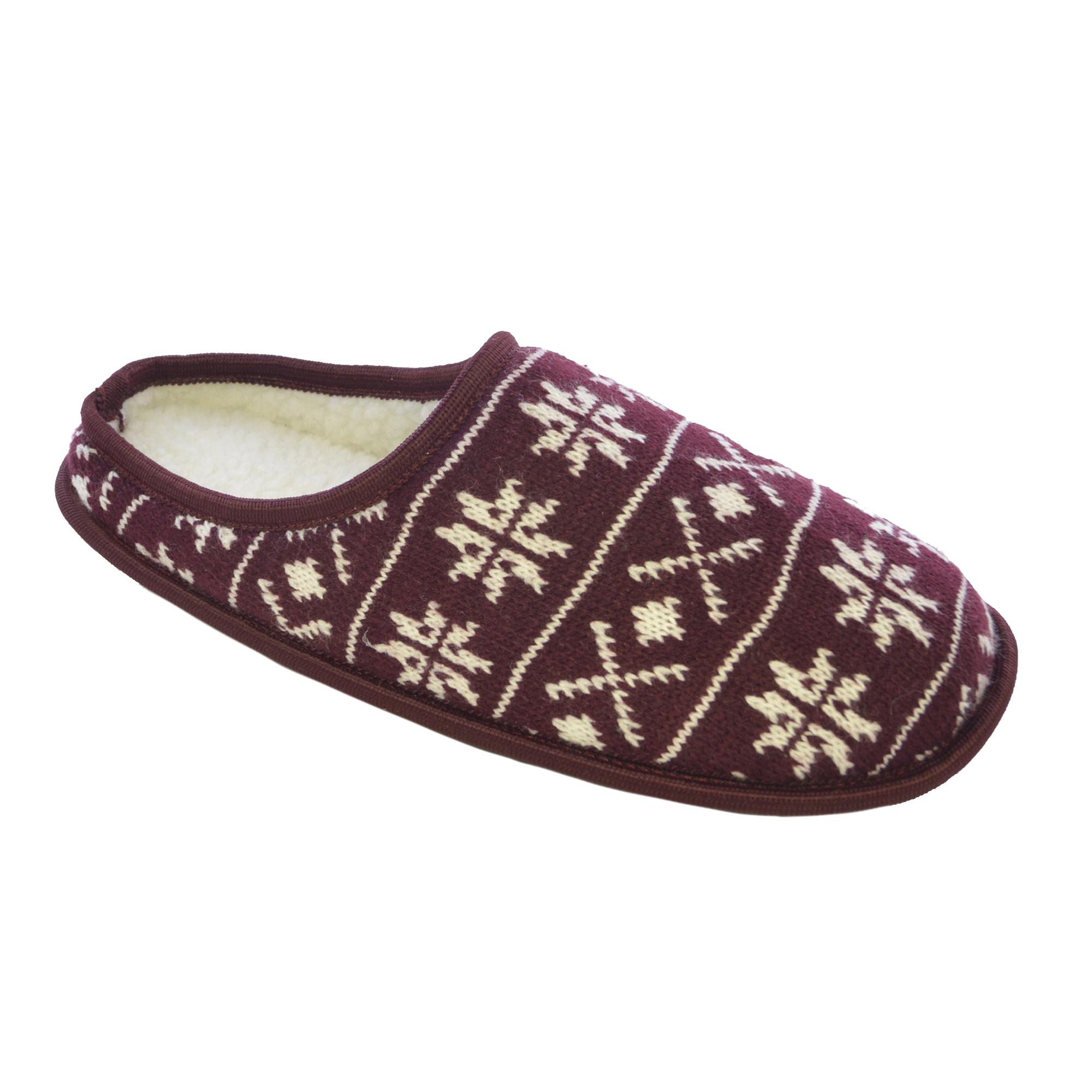 Zapatillas de estar por casa de punto Diseño Copos de nieve nieve de ...