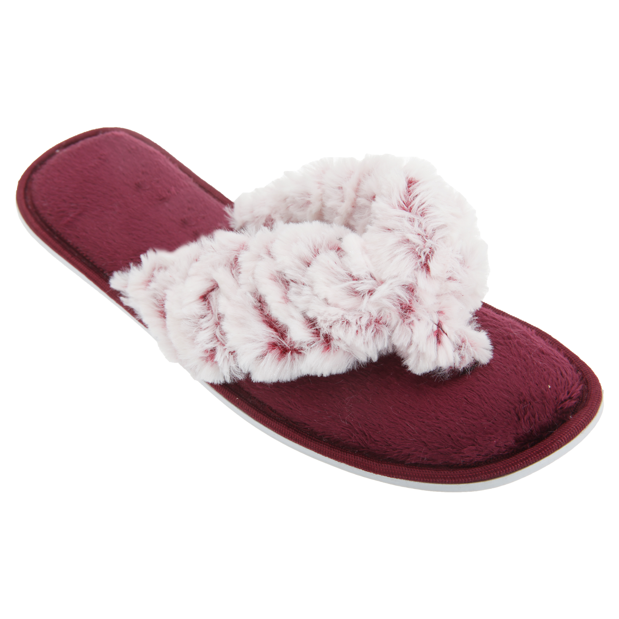 damen fleece zehentrenner flip flop hausschuhe besonders flauschig ebay. Black Bedroom Furniture Sets. Home Design Ideas