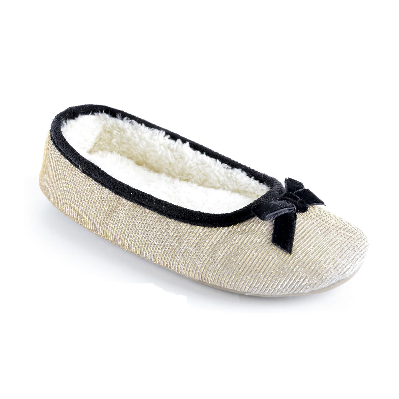 Childrens Niñas Zapatillas Brillo cerrado atrás