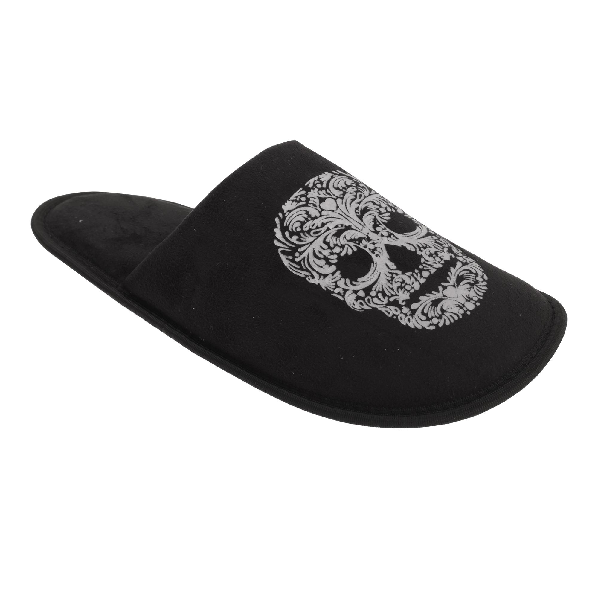 Slumberzz - Zapatillas Zapatillas - con diseño de calavera o esqueleto para hombre (SL523) 157cd5