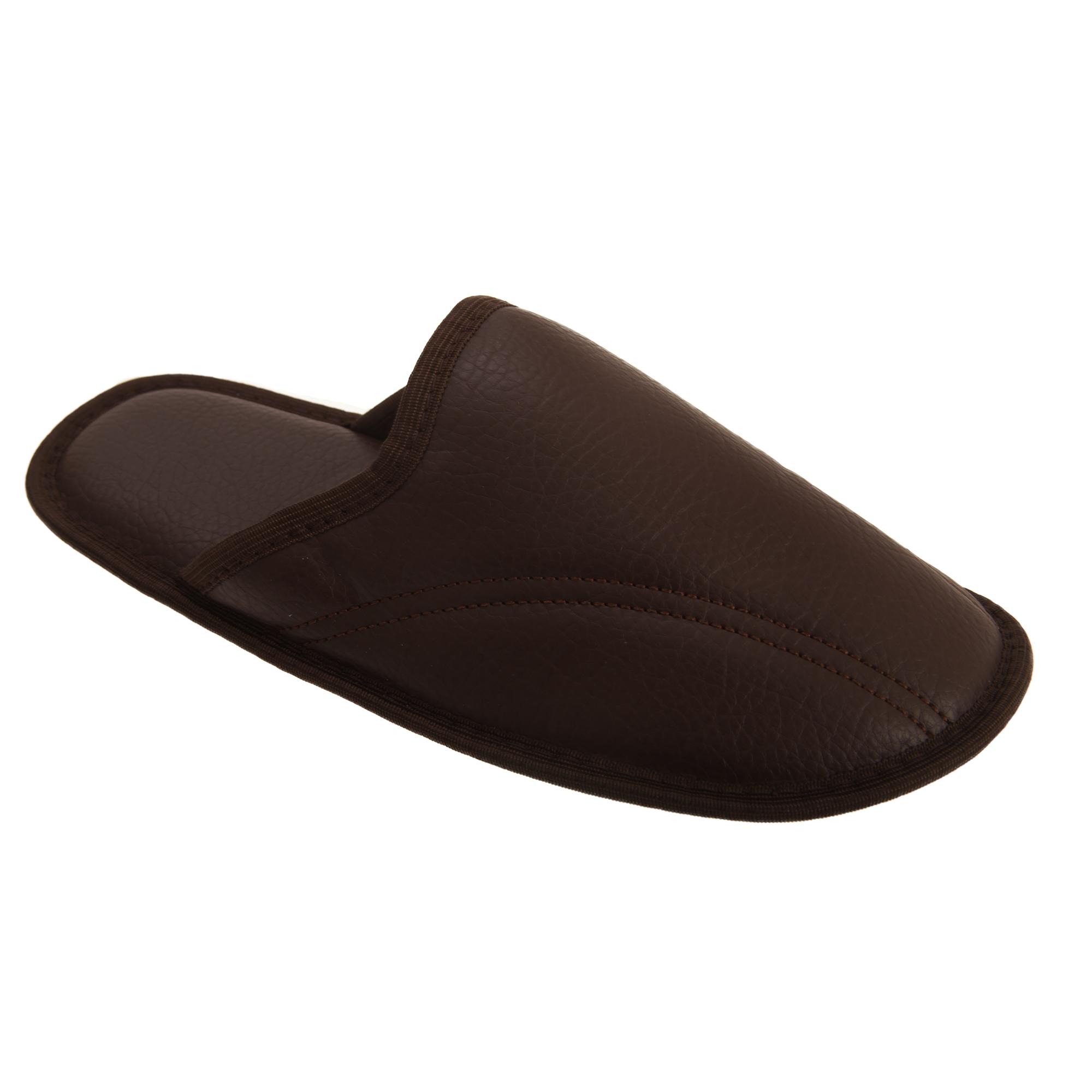 Para Hombre Memory Foam Zapatillas Mula Open Back