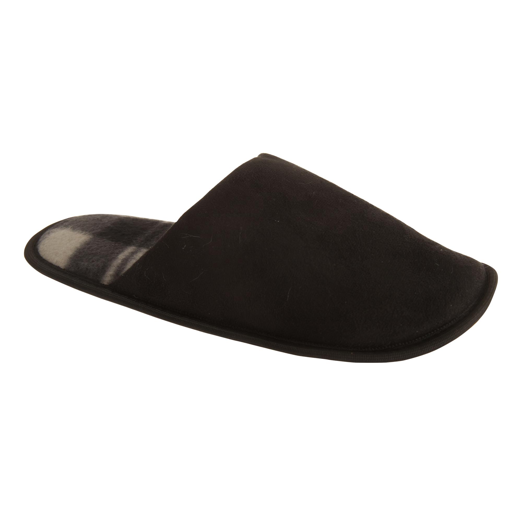 Cheque Para Hombre Forrado Zapatillas Slip-on