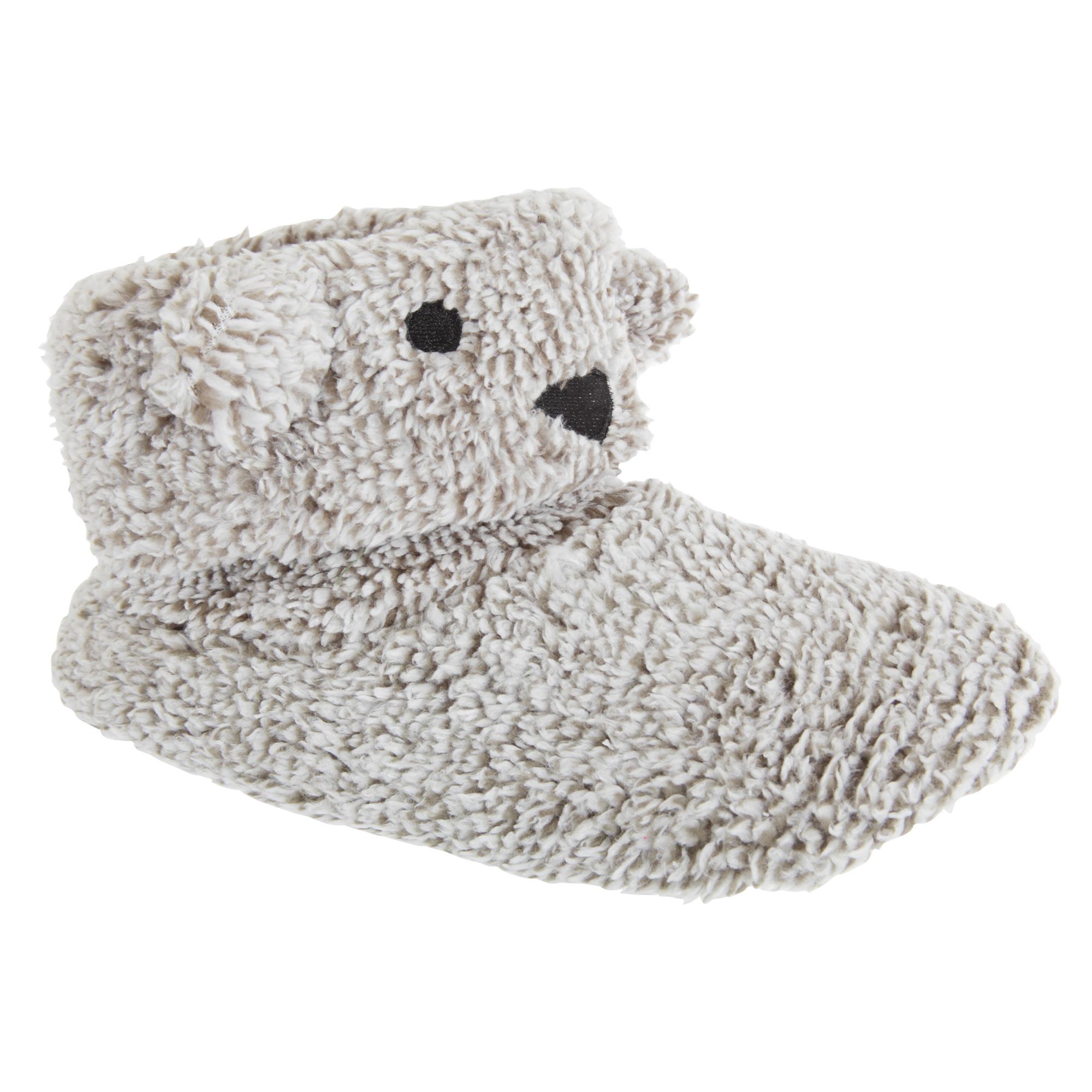 cdf387ceefc5 Details about Slumberzzz Womens Ladies Animalia Fluffy Slipper Boot (SL589)