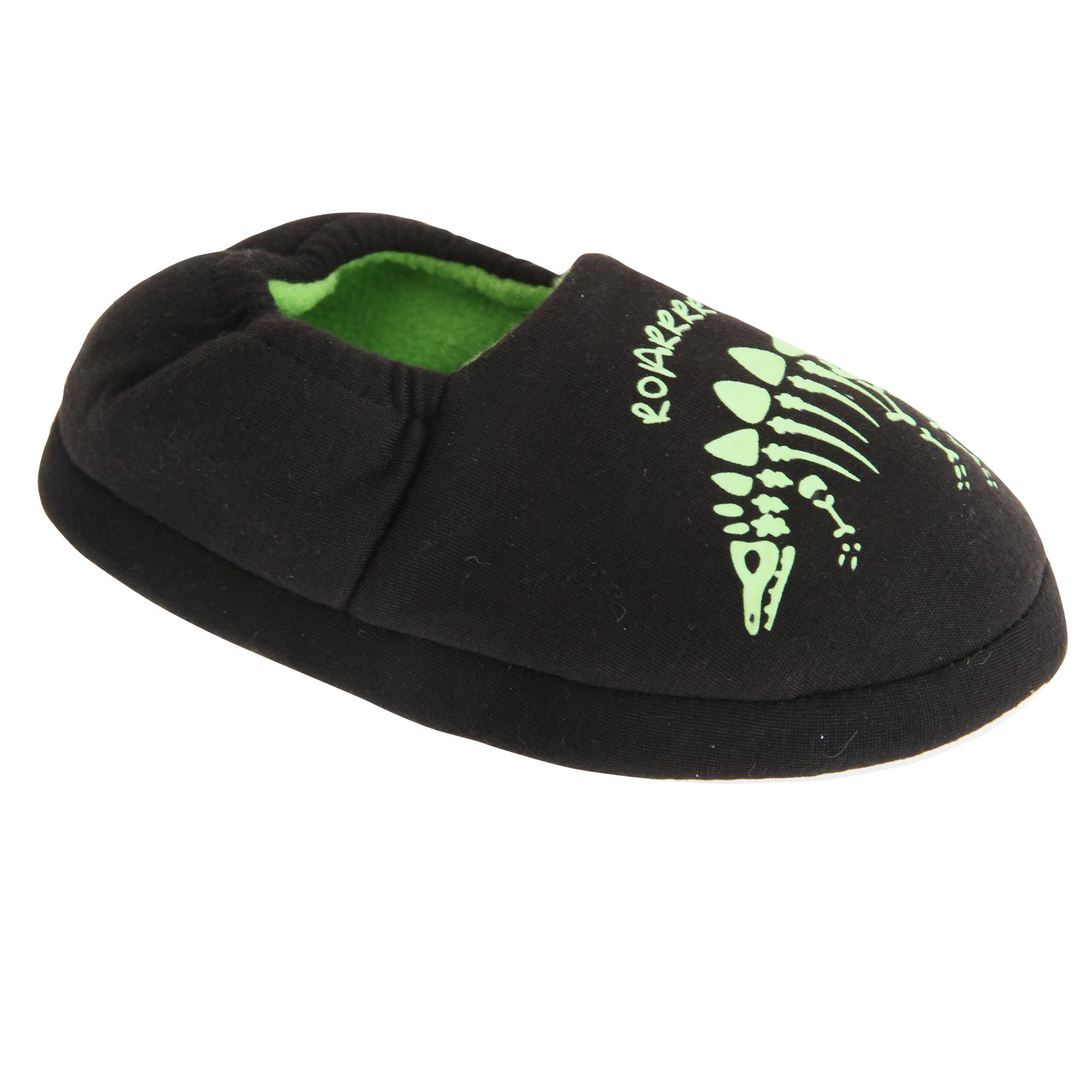 Slumberzzz Childrens/Kids brillan en la oscuridad Zapatillas De Dinosaurio