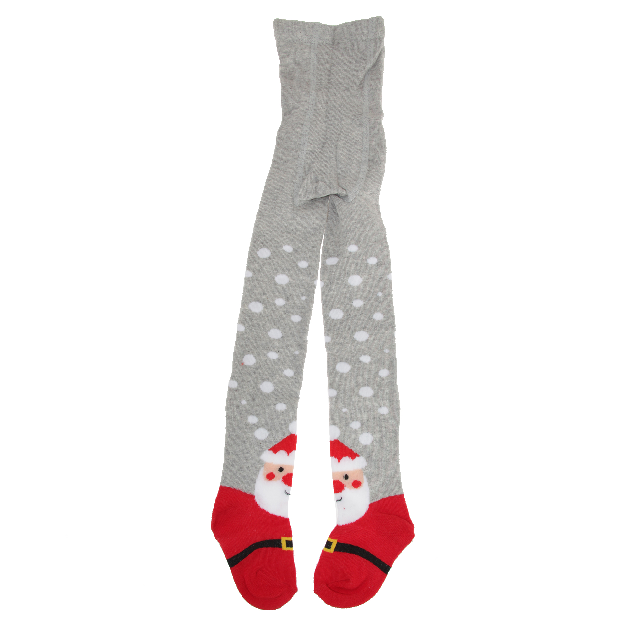 Childrens Girls Cotton Rich Festive Tights (1 Pair) (7/8 Years) (Grey)