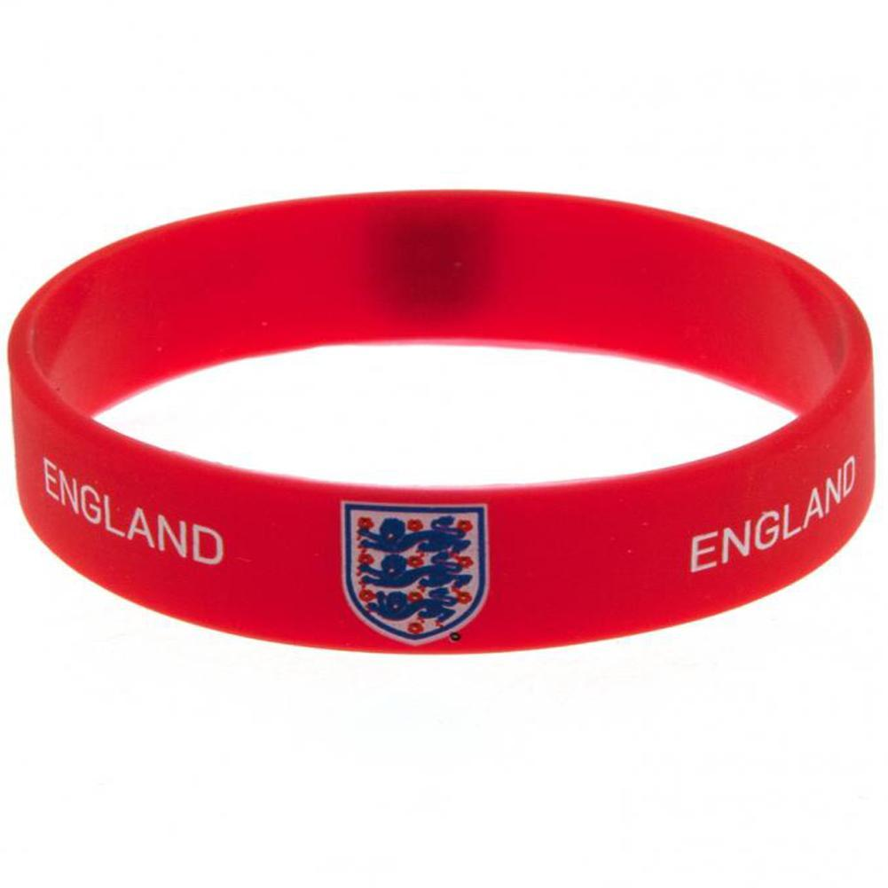 England FA Official Silicone Wristband (One Size) (Red)