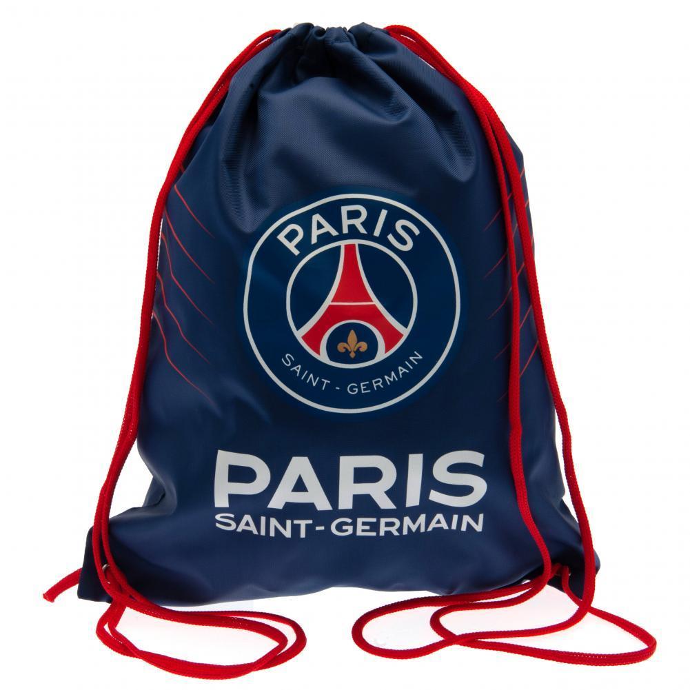 Paris Saint Germain FC Drawstring Gym Bag (40 x 33cm) (Dark Blue/Red/White)