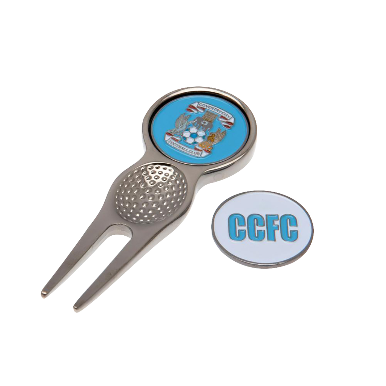 Coventry City FC Official Divot Tool With Marker (One Size) (Multicolour)