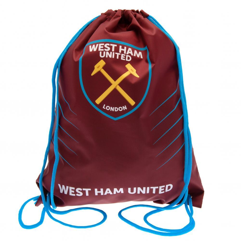 West Ham United FC Gym Bag (One Size) (Red)