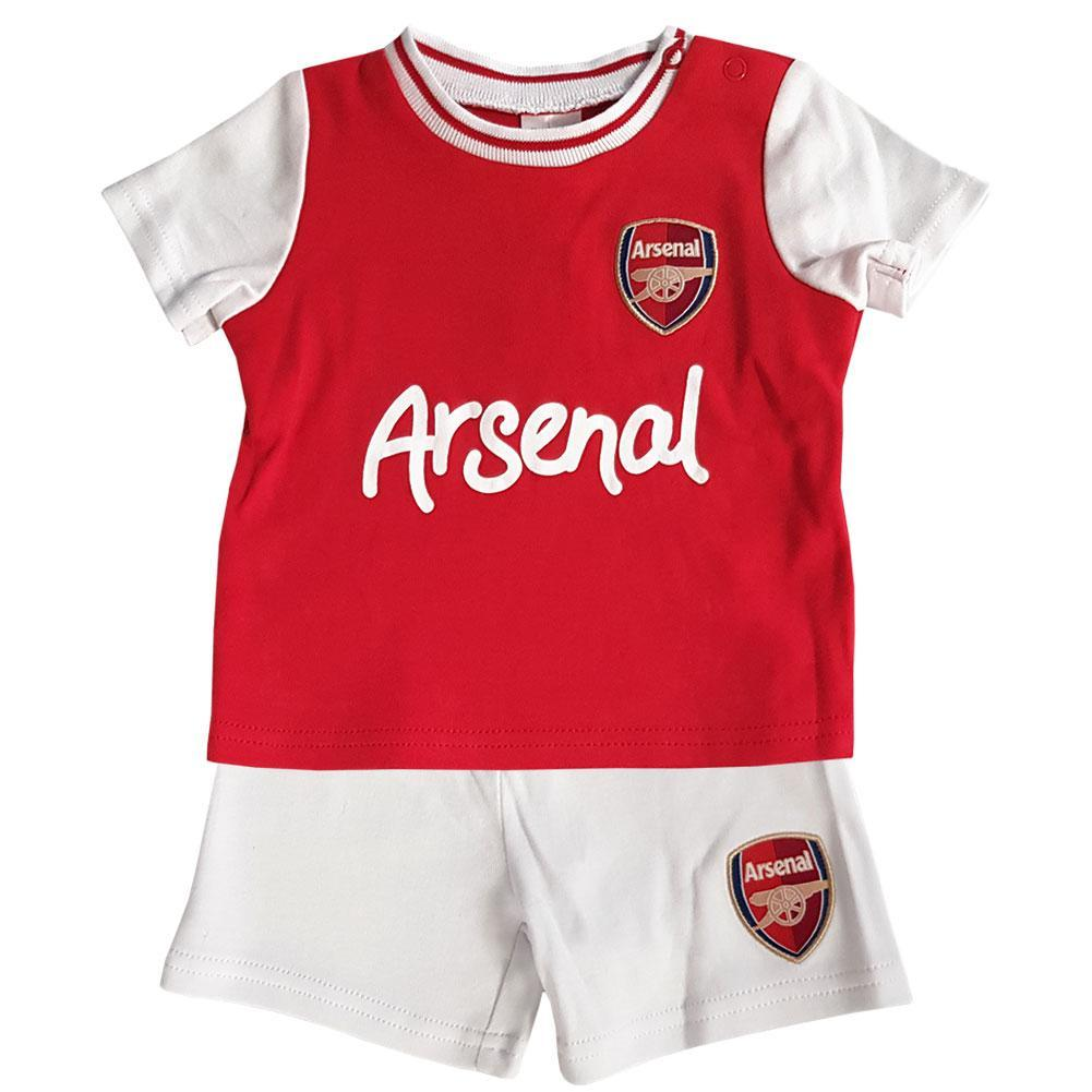ARSENAL FC 2020 BABIES FOOTBALL KIT T SHIRT SHORTS SET BABY PRAM SUIT AFC TEE
