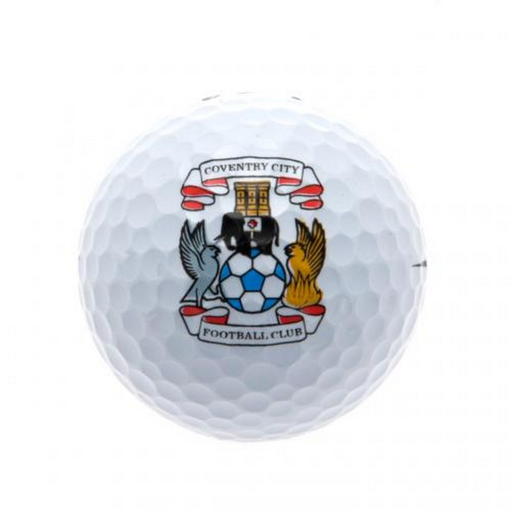 Coventry City FC Golf Balls (Pack of 3) (One Size) (White)