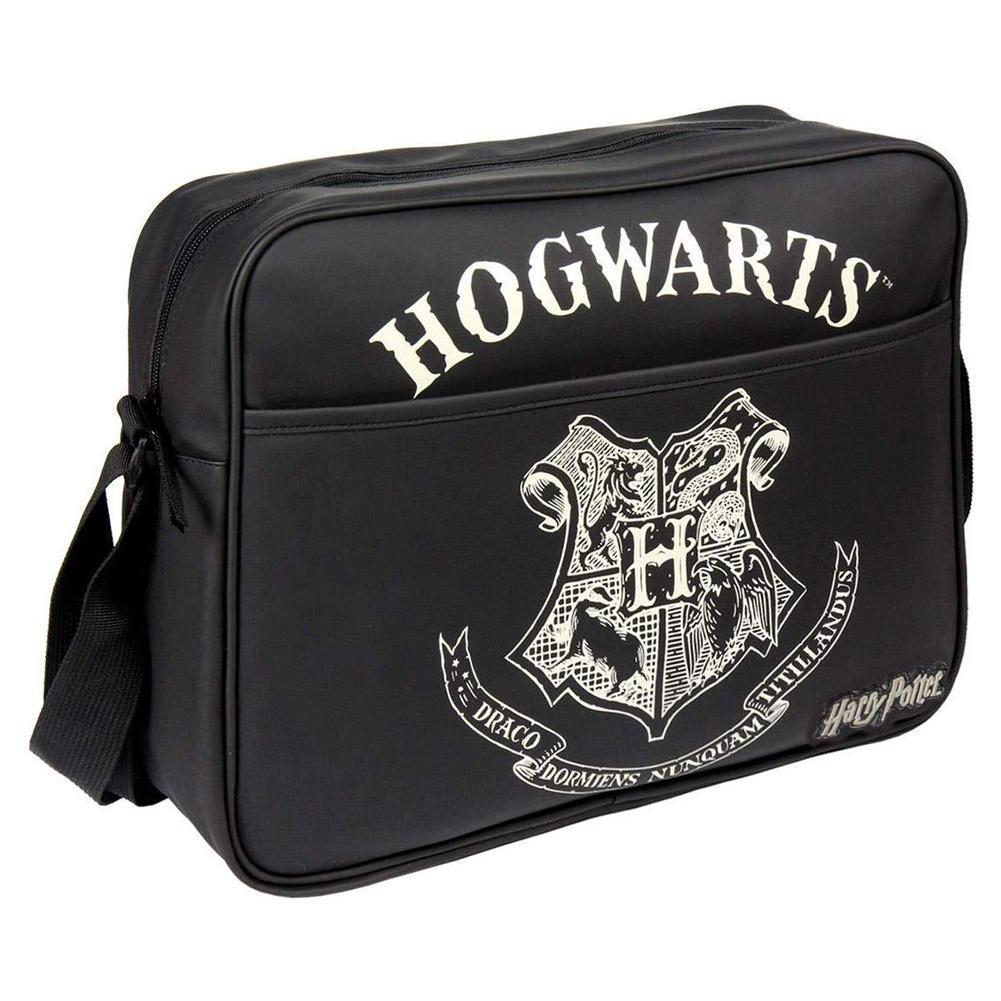 Harry Potter Hogwarts Messenger Bag (One Size) (Black)