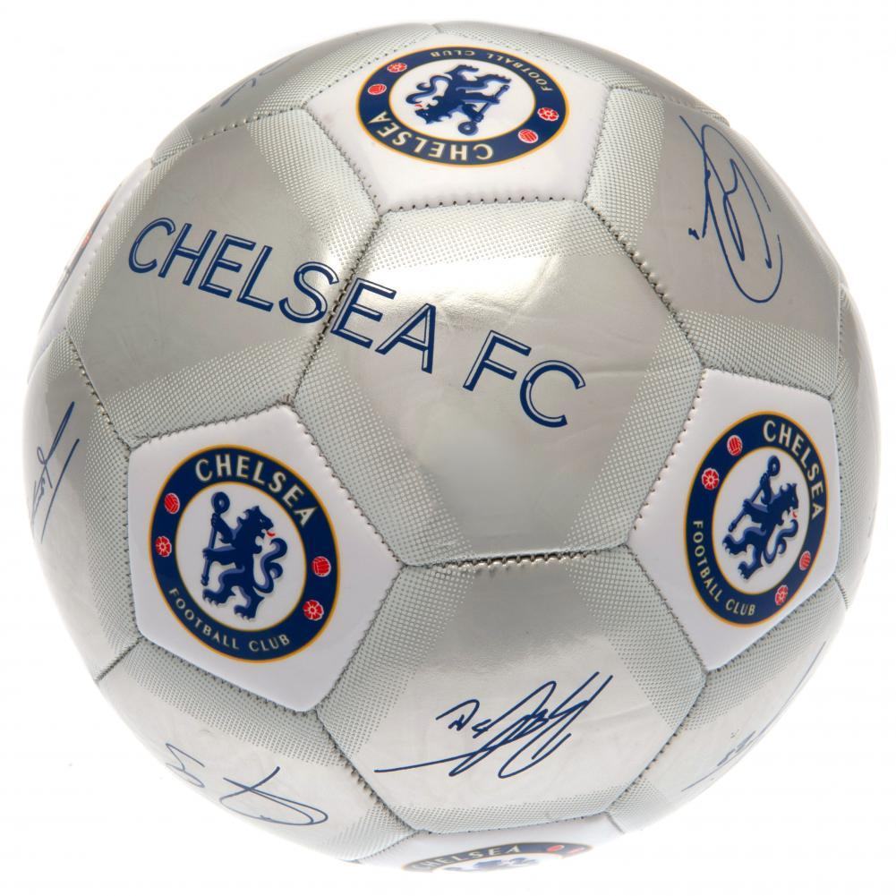 Chelsea FC Printed Players Signatures Signed Football (One Size) (Silver)