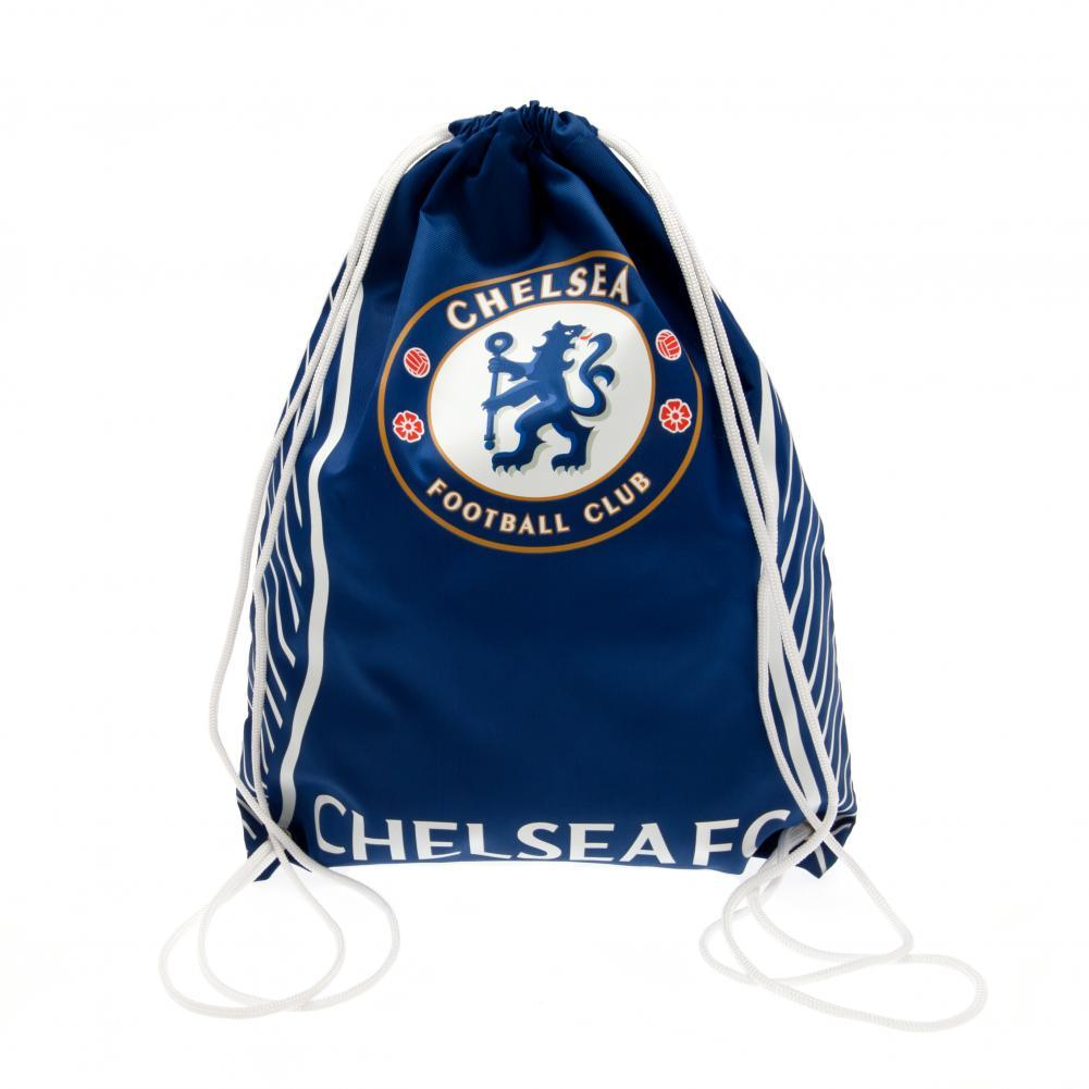 Chelsea FC Sports Gym Bag (One Size) (Blue/White)