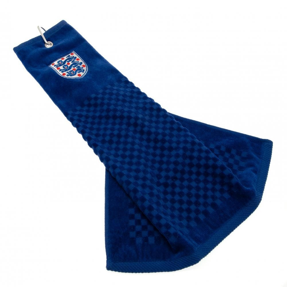England FA Official Tri-Fold Towel (One Size) (Blue)