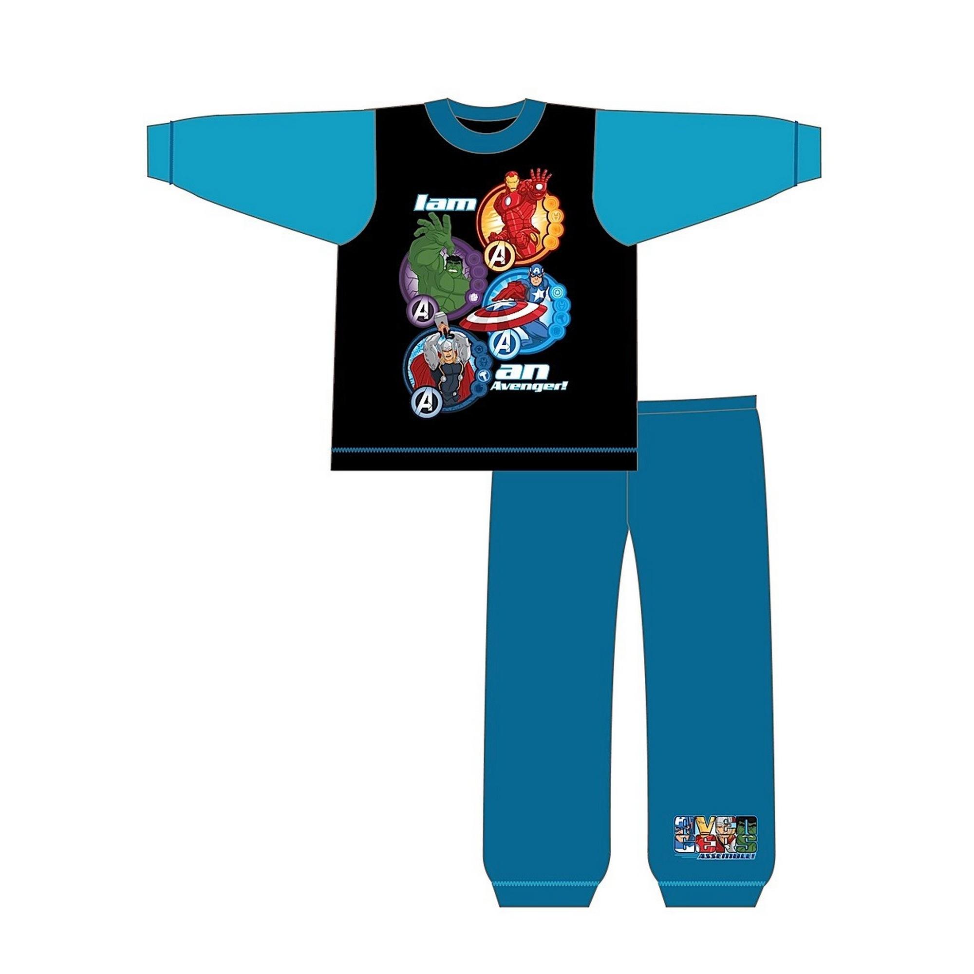 Marvel-Avengers-Pijama-infantil-de-manga-larga-con-diseno-I-Am-An-Avenger