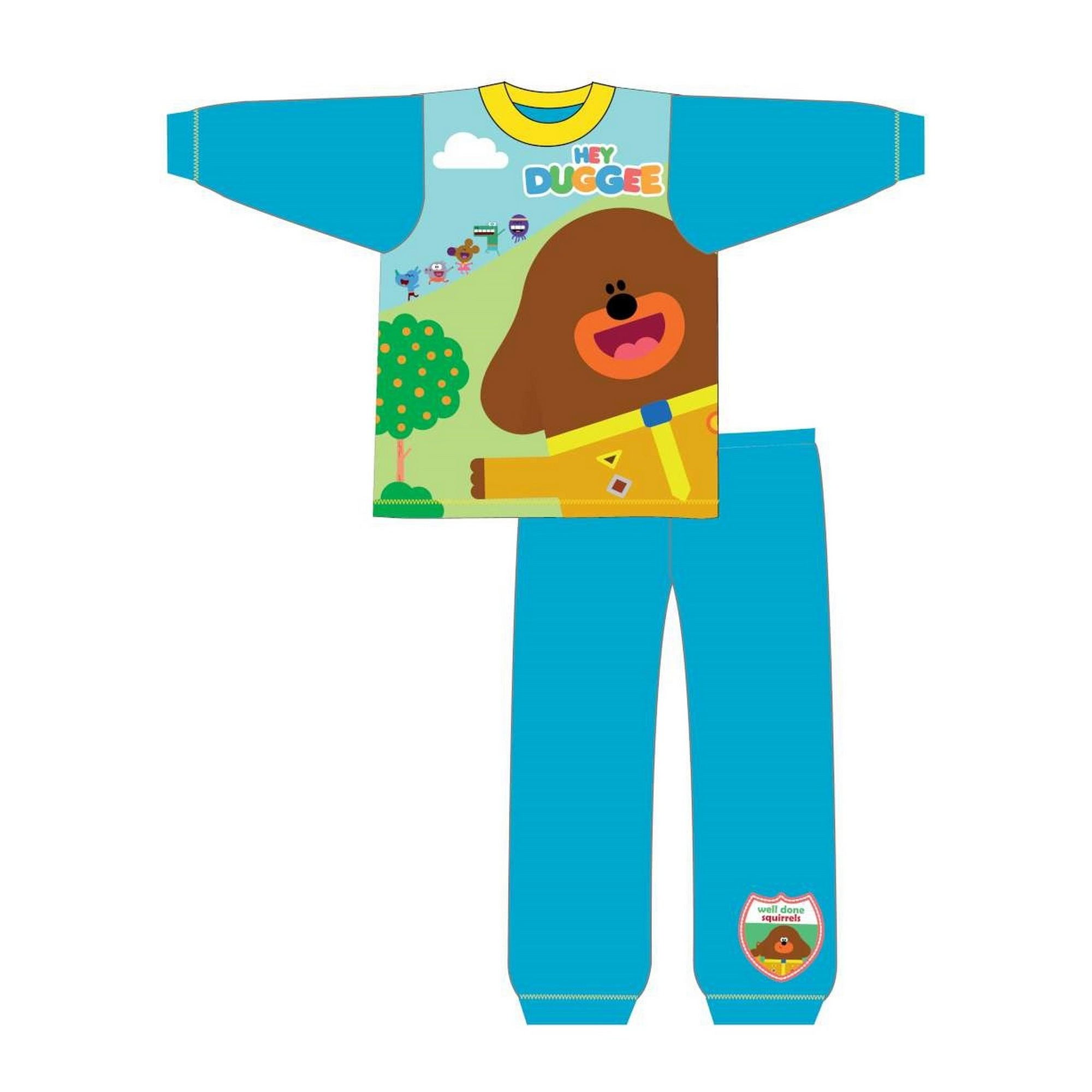 Hey-Duggee-Childrens-Toddlers-Boys-Snuggle-Fit-Long-Pyjamas-TF485