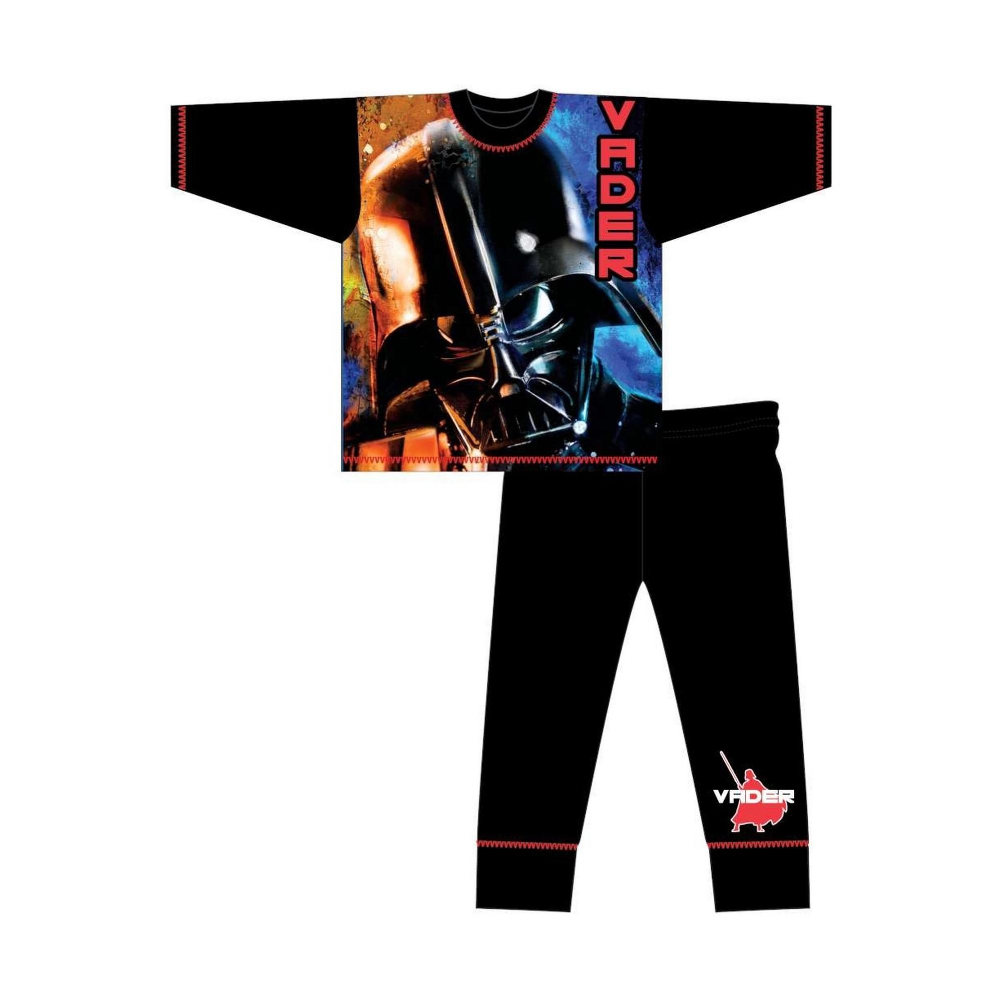Star-Wars-Pijama-infantil-de-manga-larga-con-diseno-de-Darth-Vader-TF486
