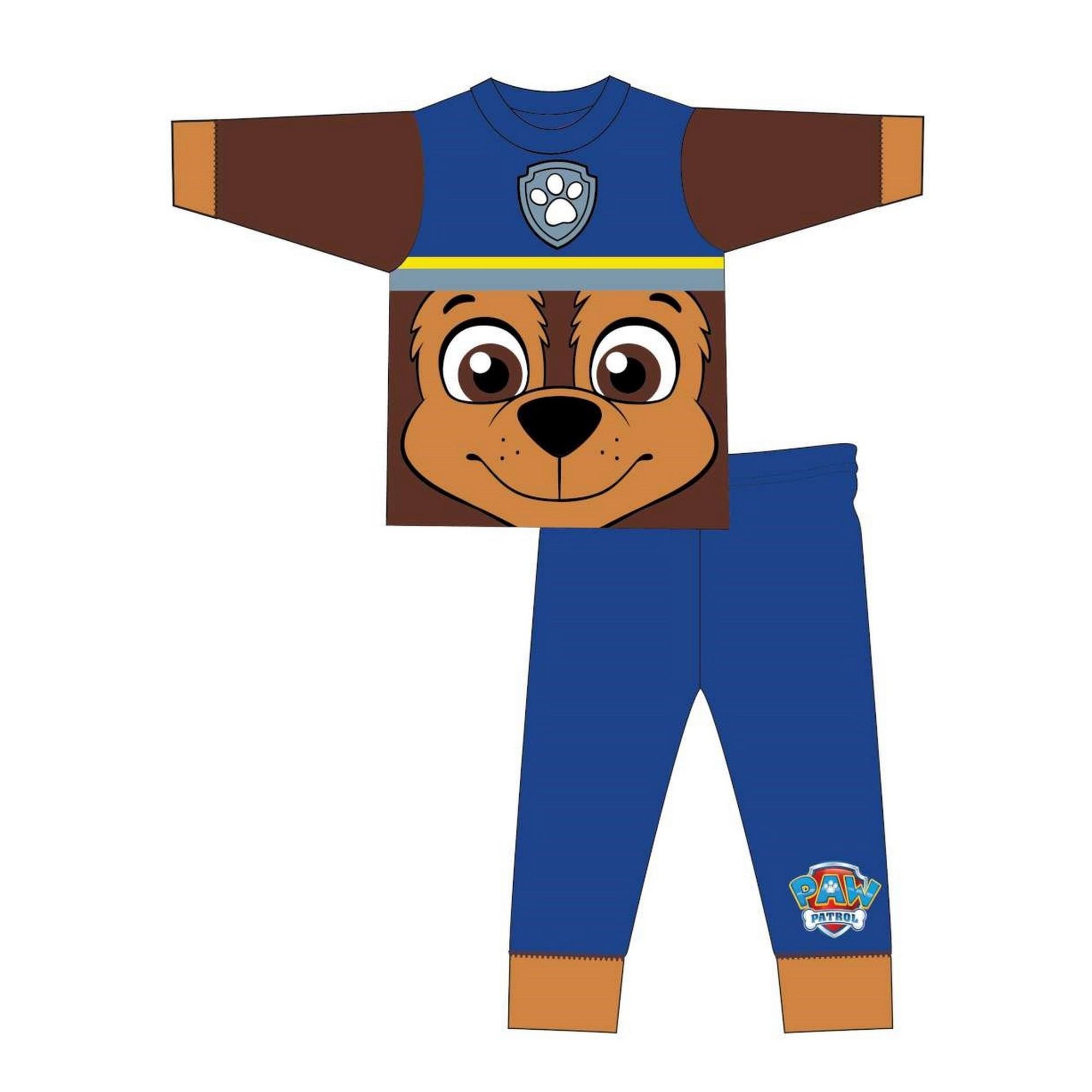 Paw-Patrol-Pijama-infantil-de-manga-larga-con-Chase-de-la-Patrulla-TF507