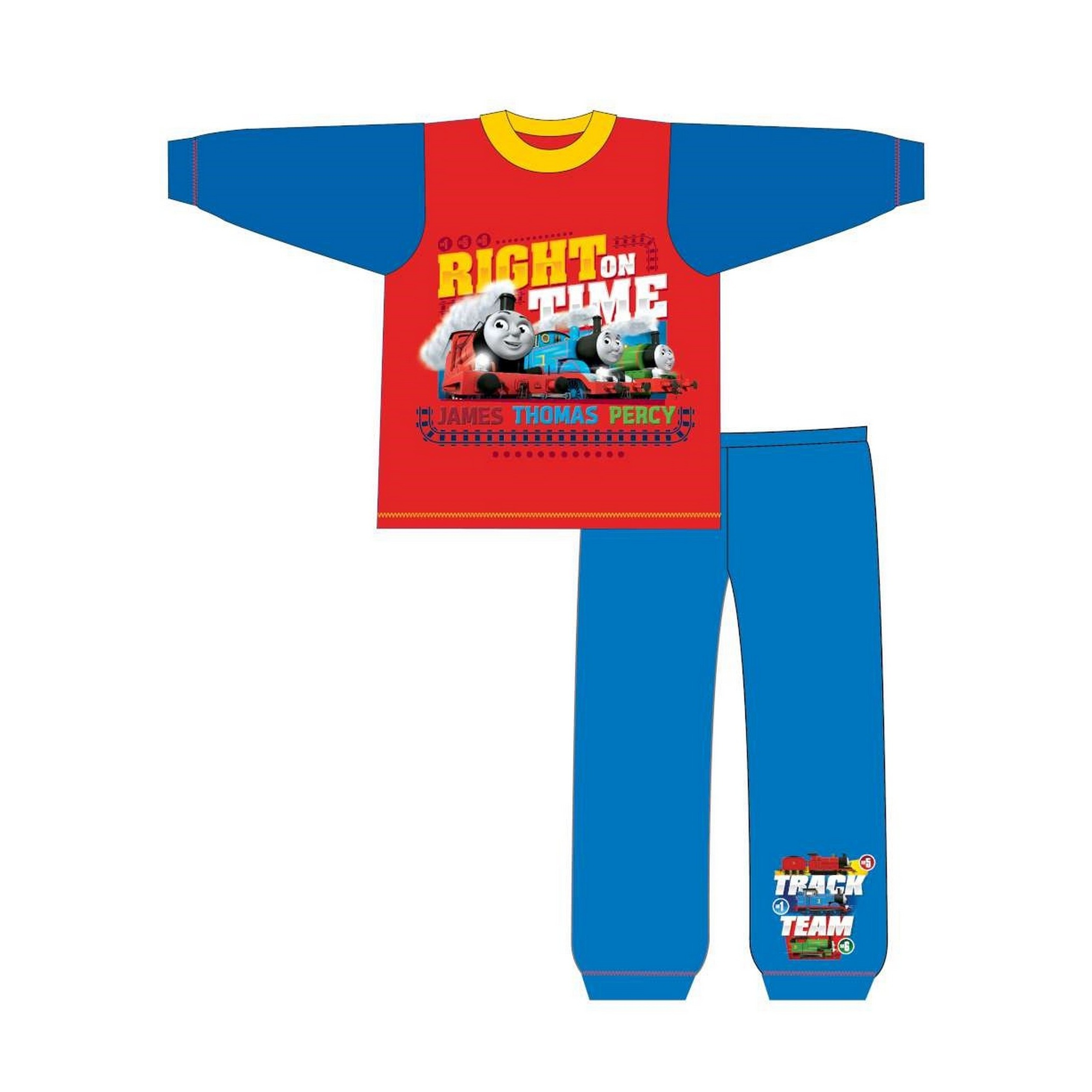 Thomas-The-Tank-Engine-Pijama-infantil-de-manga-larga-de-Thomas-y-sus-TF509