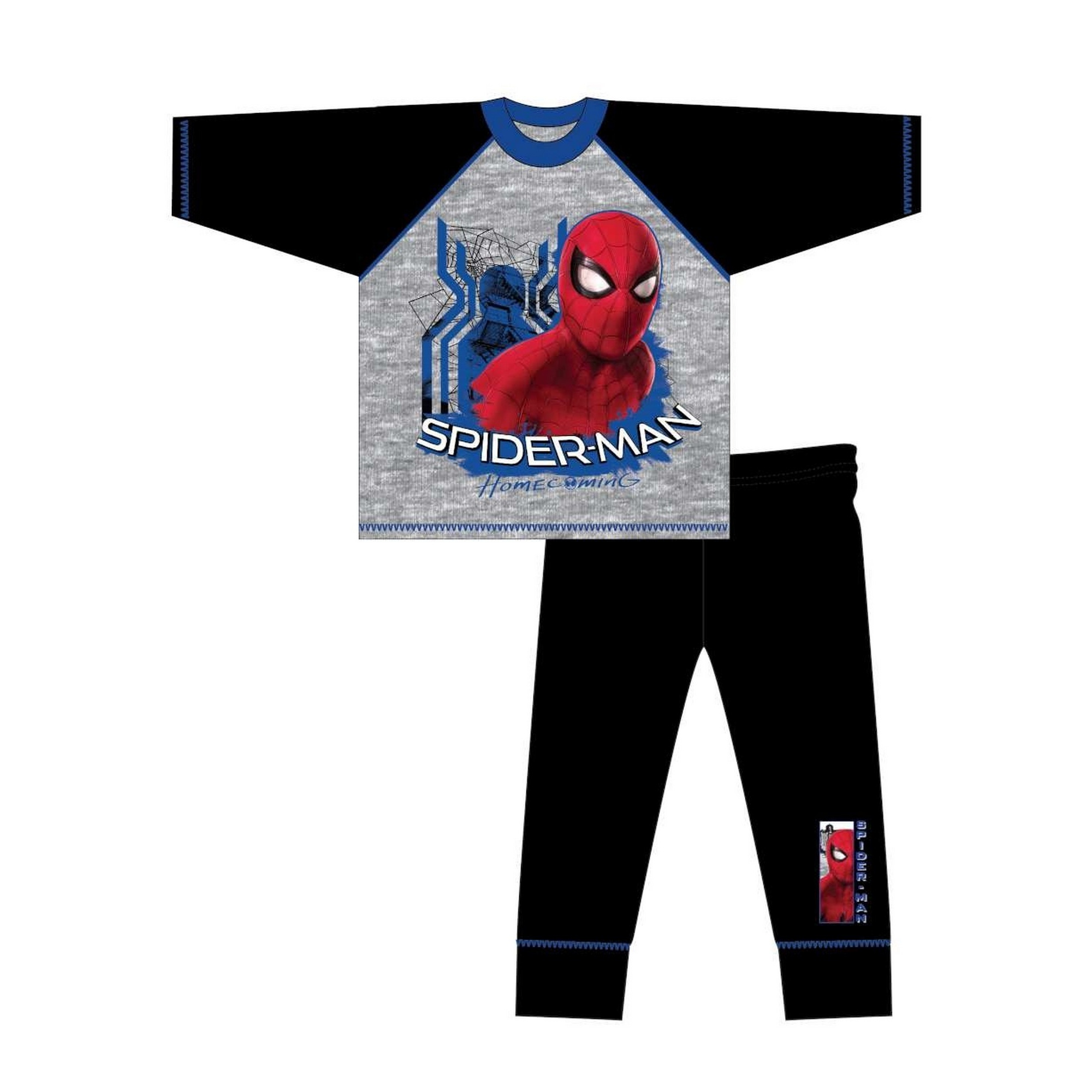 Marvel-Pijama-de-manga-larga-infantil-de-Spiderman-Homecoming-TF524