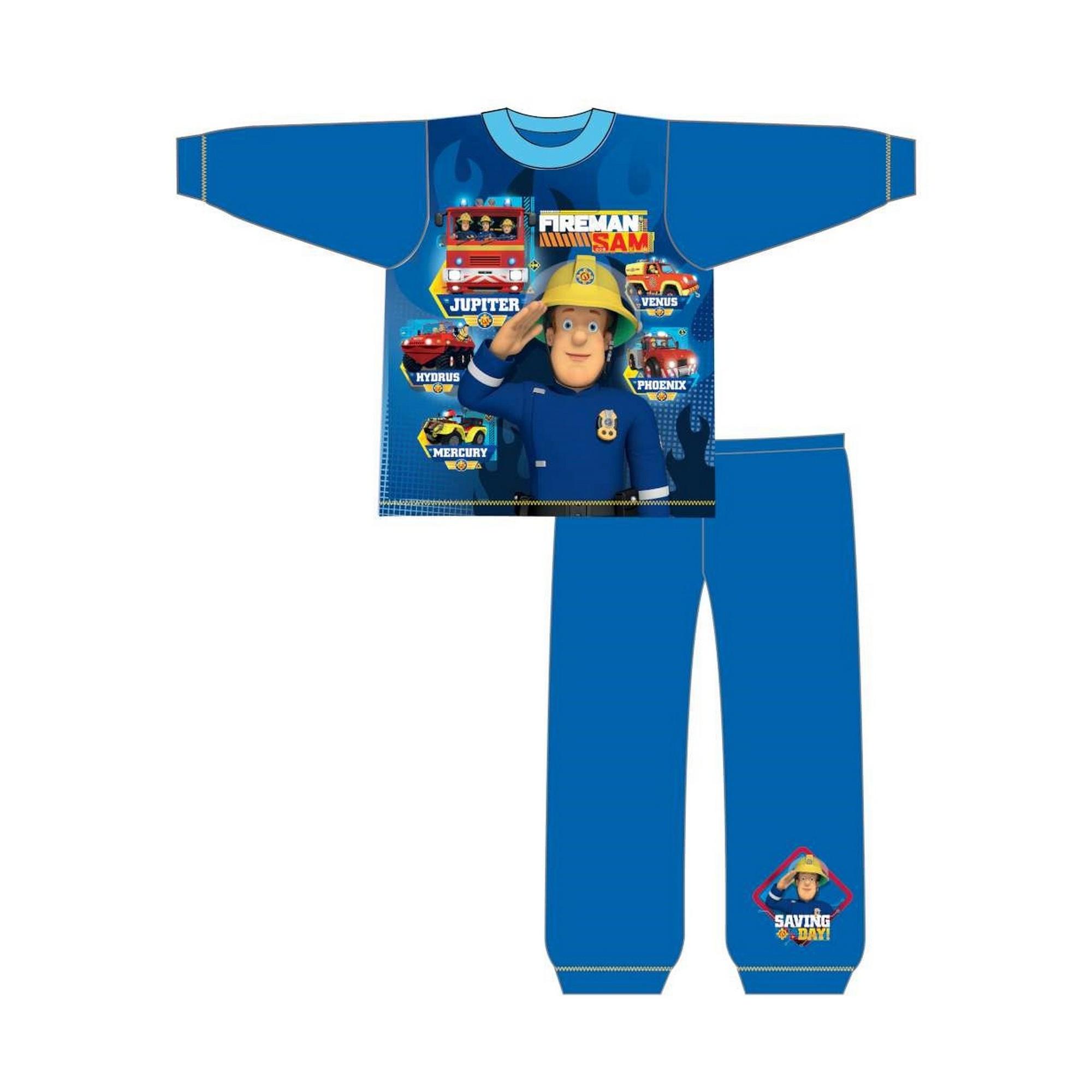 Fireman-Sam-Pijama-de-manga-larga-infantil-de-Sam-el-Bombero-TF532