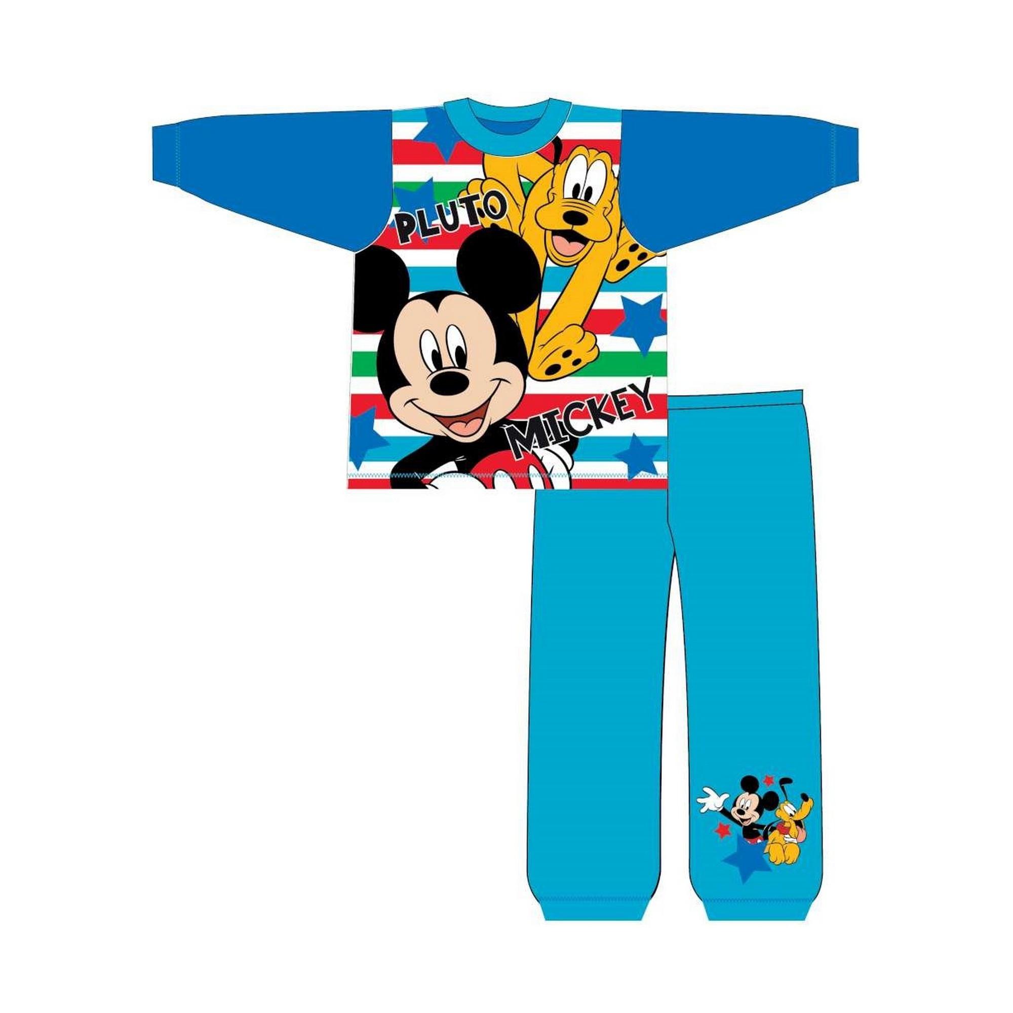 Disney-Pijama-de-manga-larga-infantil-de-Mickey-Mouse-y-Pluto-TF534