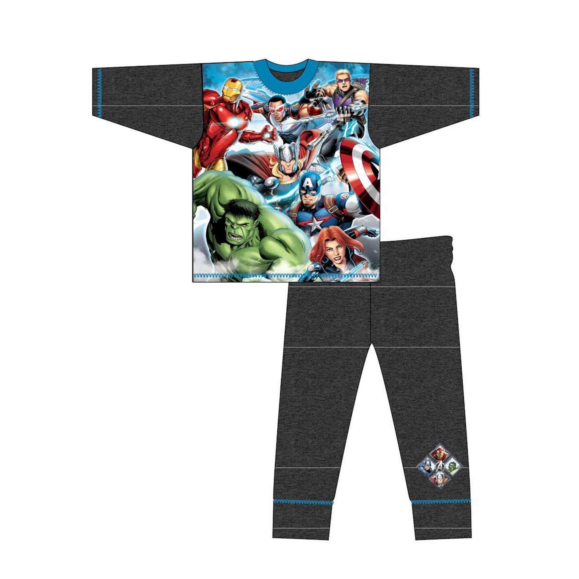 Marvel-Pijama-de-manga-larga-infantil-de-los-Vengadores-TF543