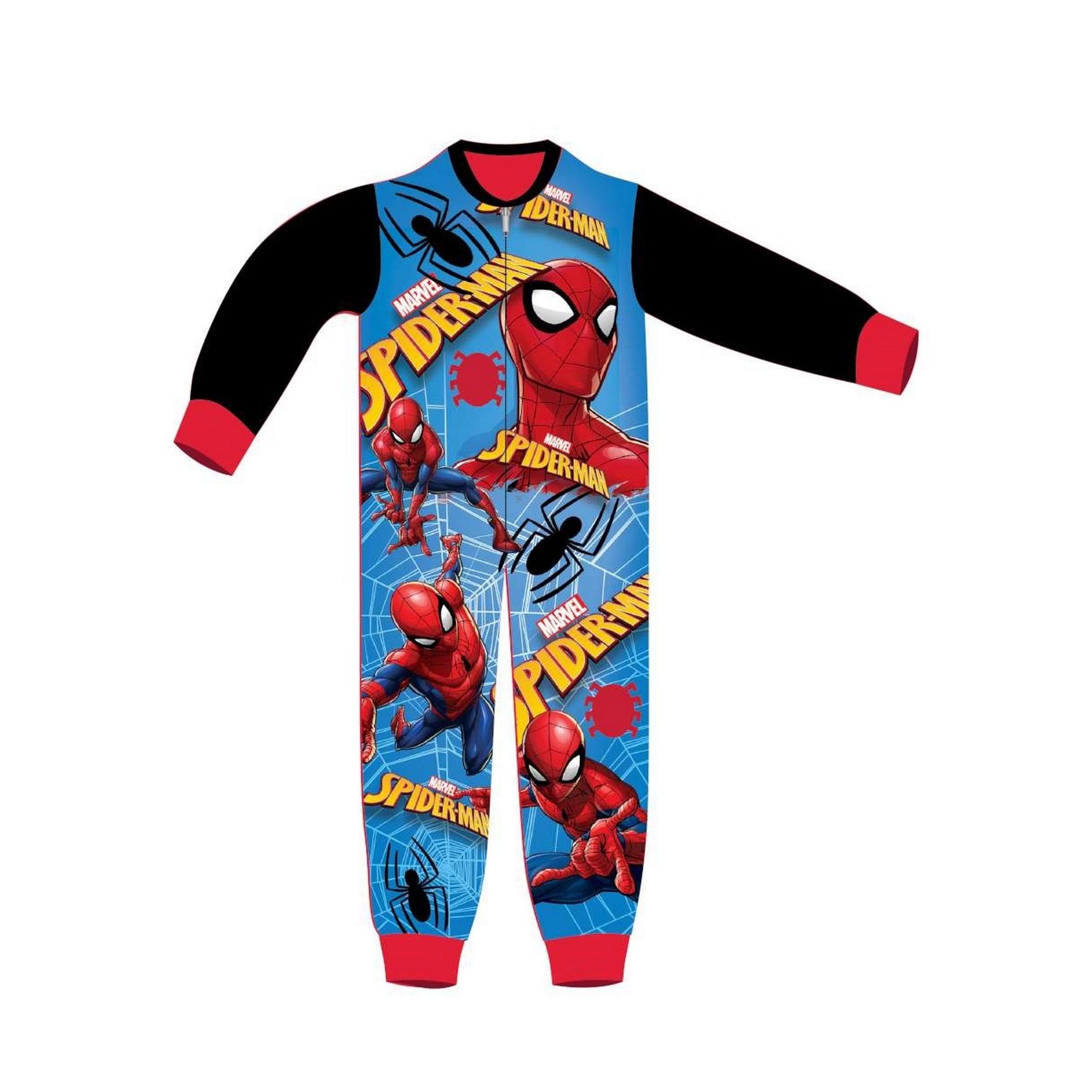 Marvel-Pijama-infantil-de-una-pieza-con-diseno-clasico-de-Spiderman-TF574