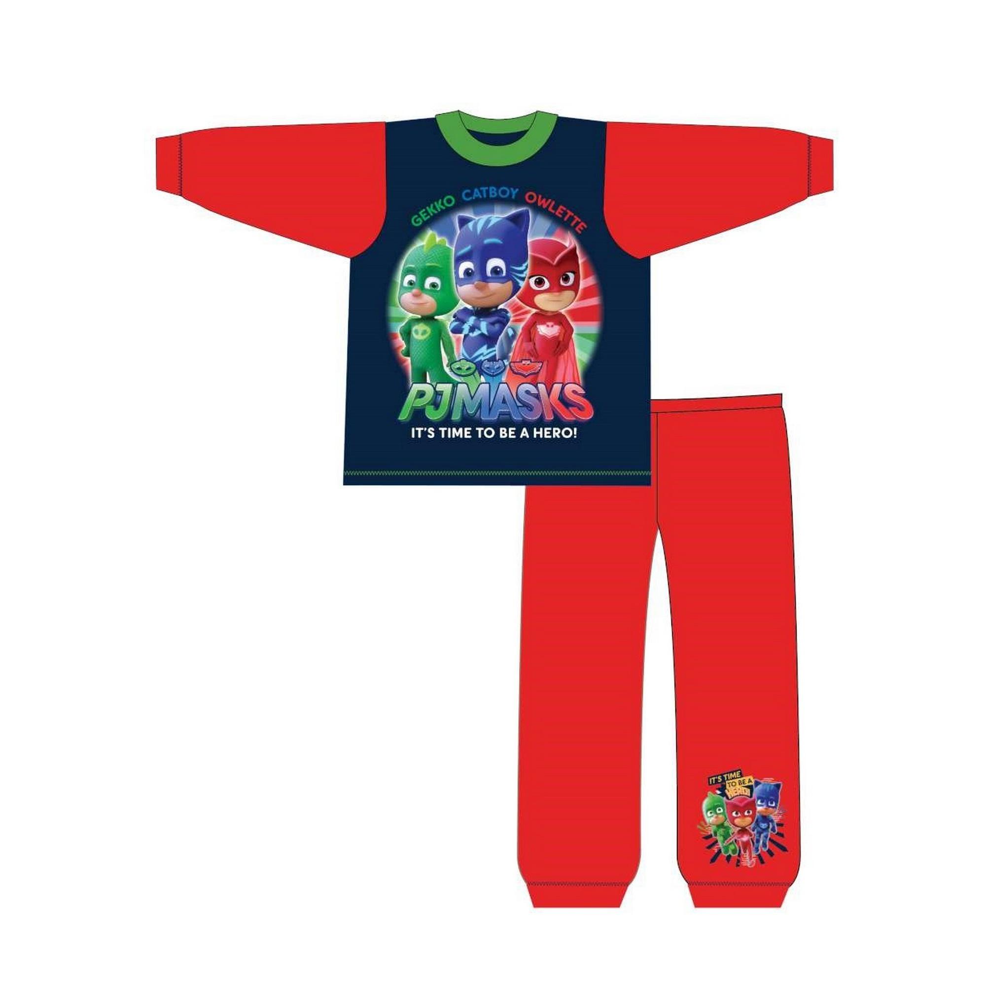 PJ-Masks-Pijama-infantil-con-manga-laga-de-PJ-Masks-con-texto-Time-To-TF577