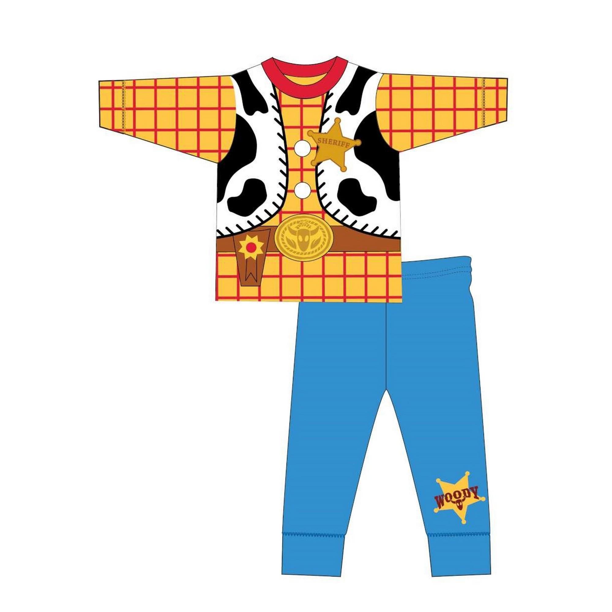 Toy-Story-Pijama-de-manga-larga-infantil-estilo-disfraz-de-Woody-TF592
