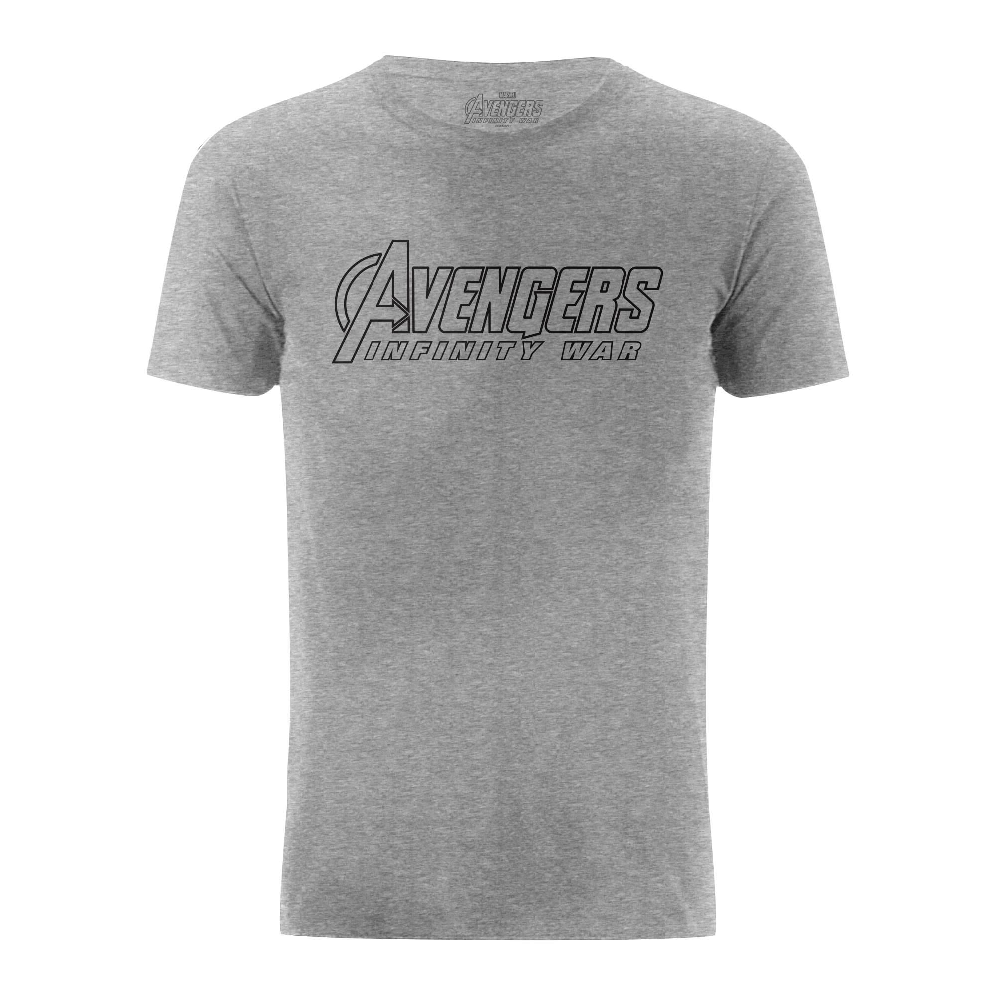 Marvel-Avengers-Infinity-War-Text-Logo-Outline-Grey-T-Shirt-TF619