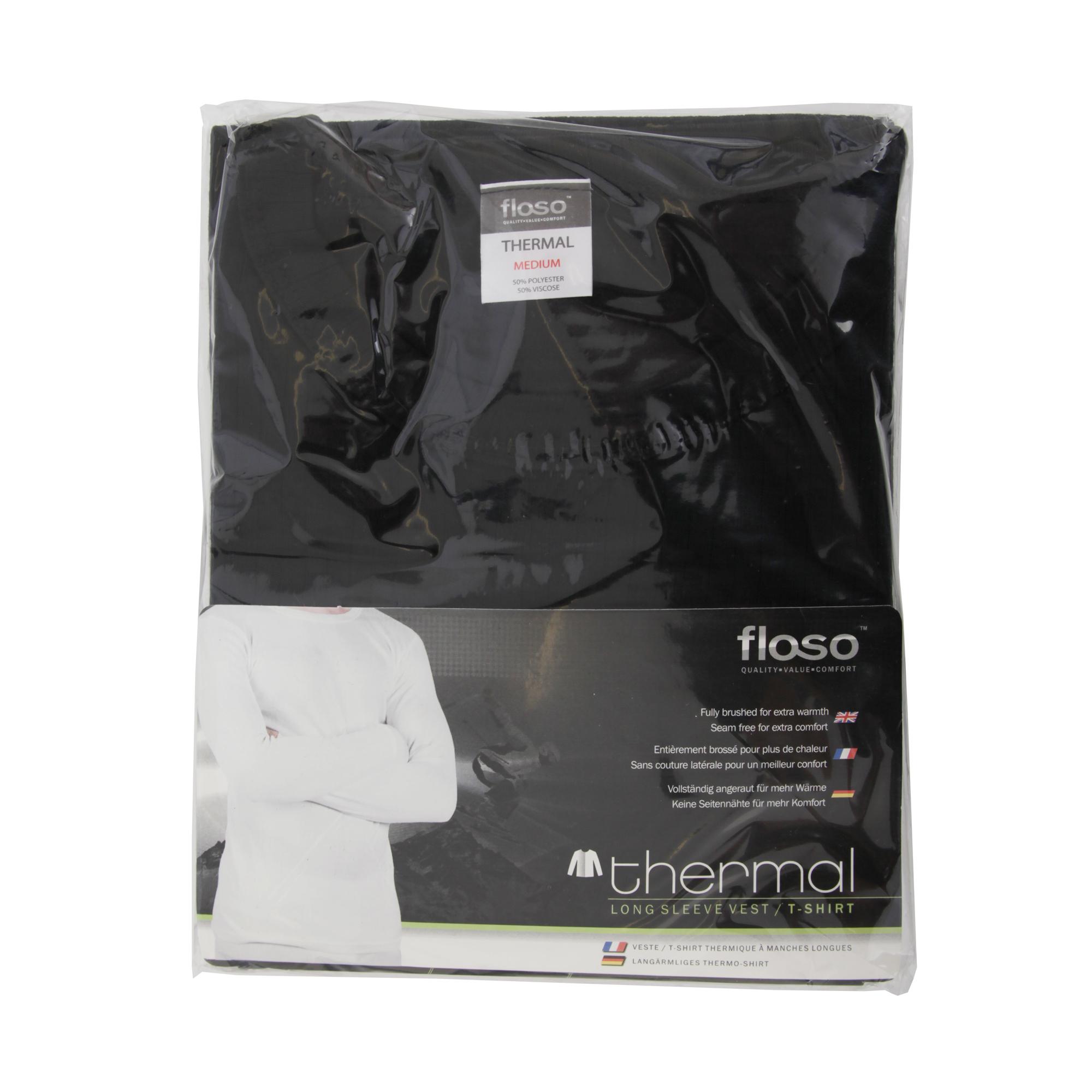 miniature 8 - FLOSO -  T-shirt thermique à manches longues (en viscose) - Homme (THERM107)
