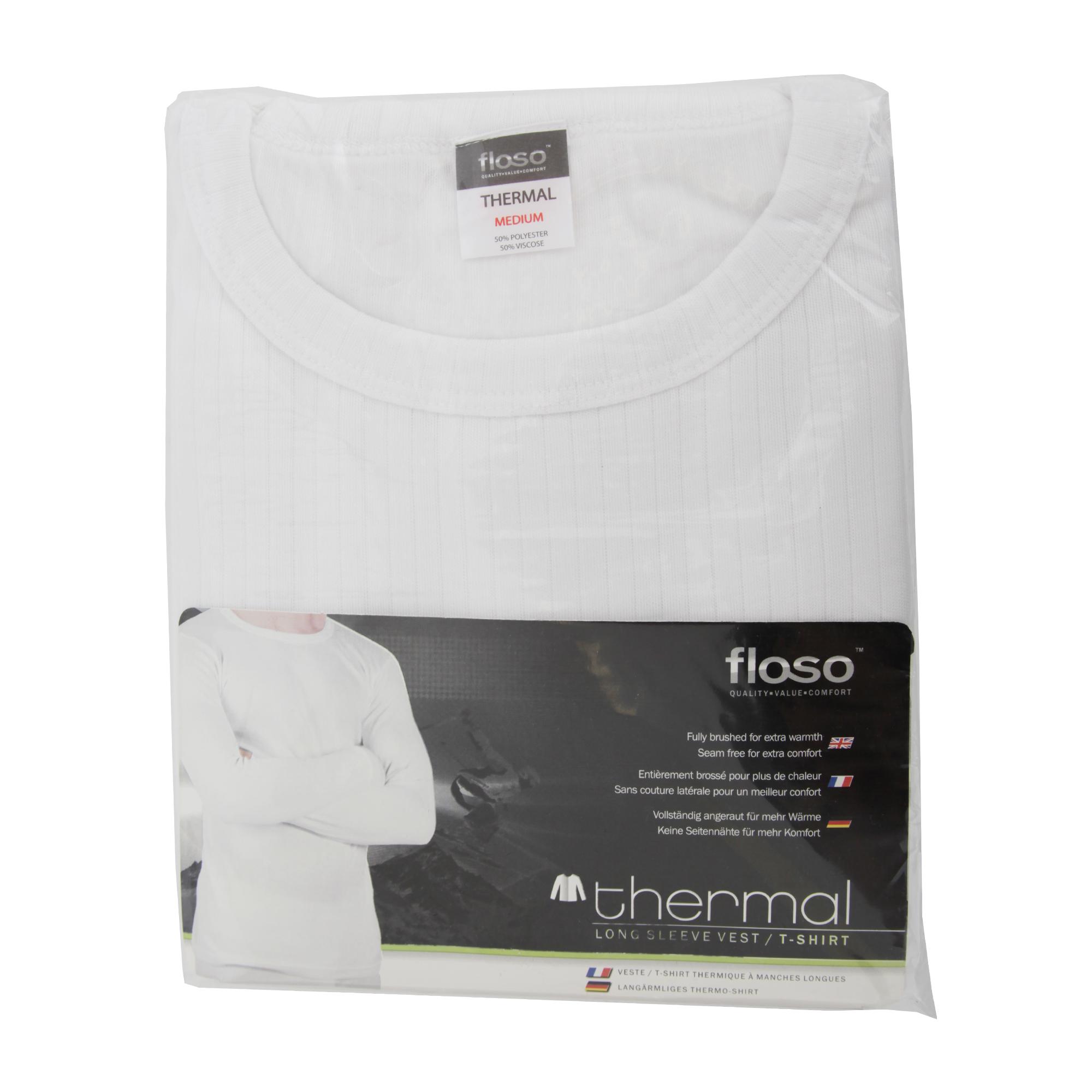 miniature 4 - FLOSO -  T-shirt thermique à manches longues (en viscose) - Homme (THERM107)