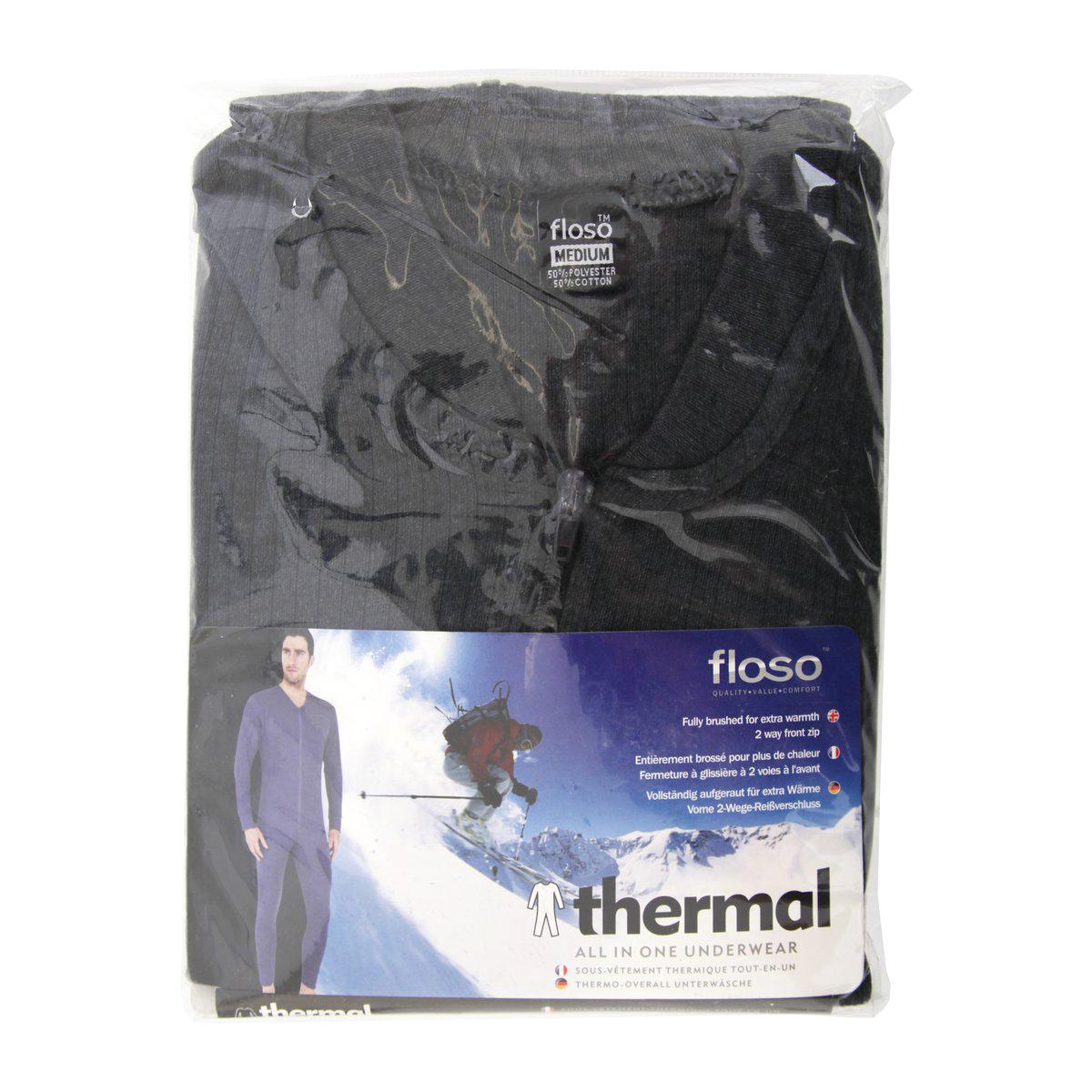 miniature 6 - FLOSO combinaison thermique - Homme (THERM136)