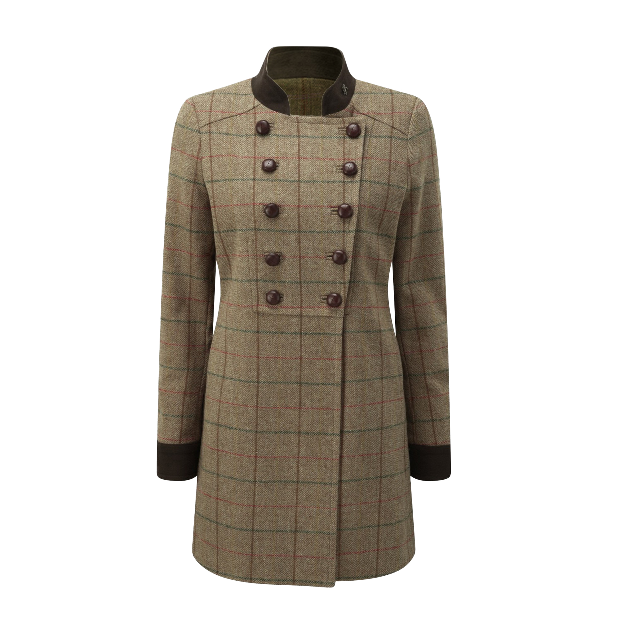 Caldene-Womens-Ladies-Rosedene-Military-Tweed-Country-Coat-TL1623