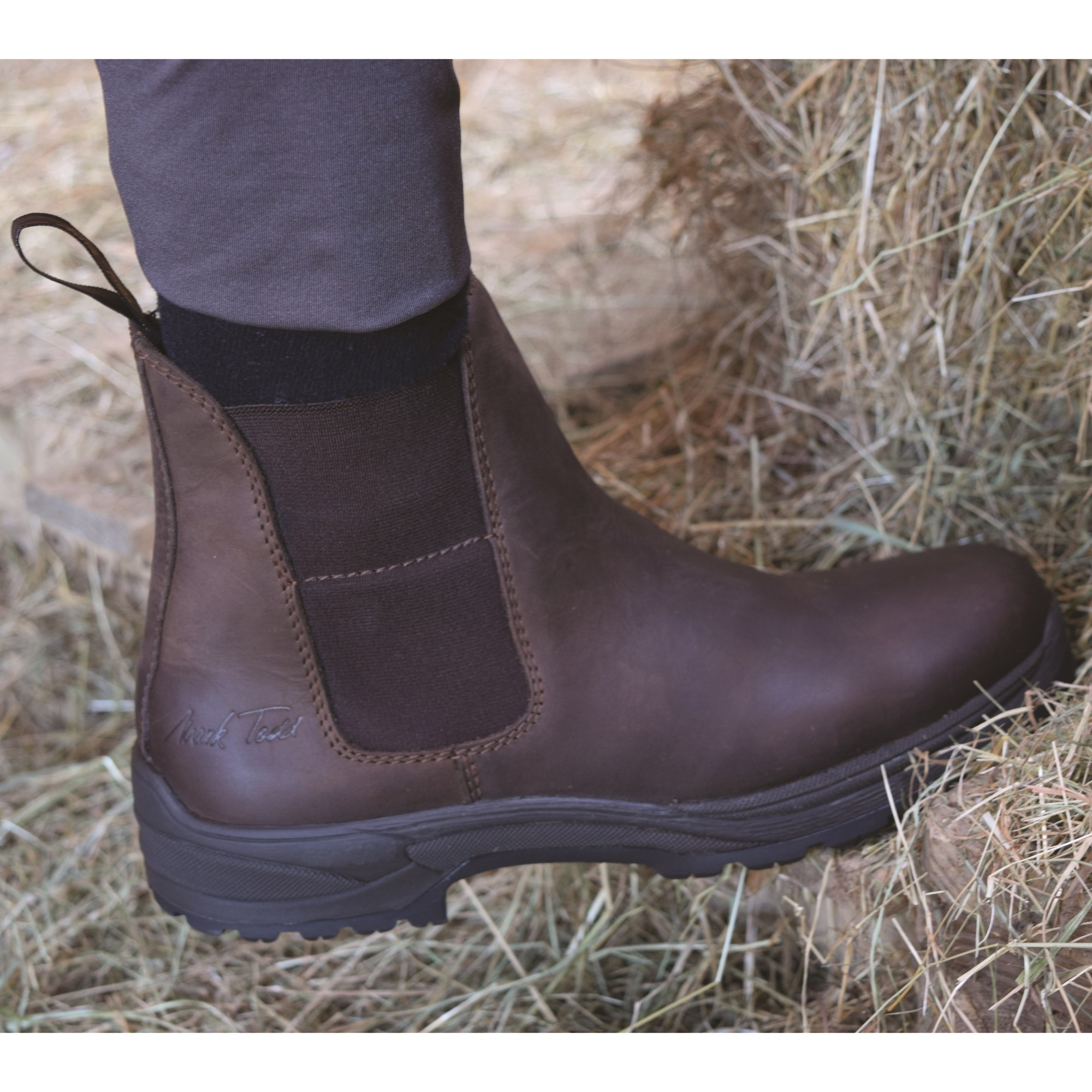 Brown All Sizes Mark Todd Synthetic Zip Back Unisex Boots Jodhpur